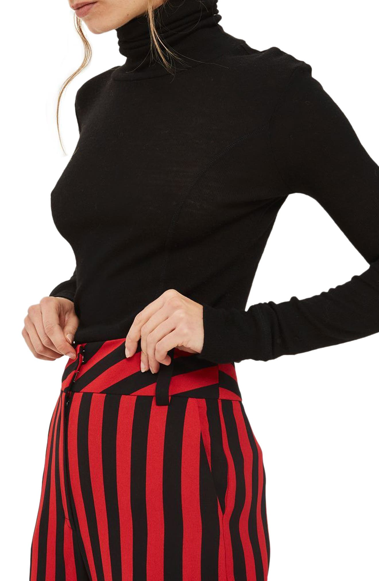 Humbug Stripe Trousers,                             Alternate thumbnail 3, color,                             Red Multi