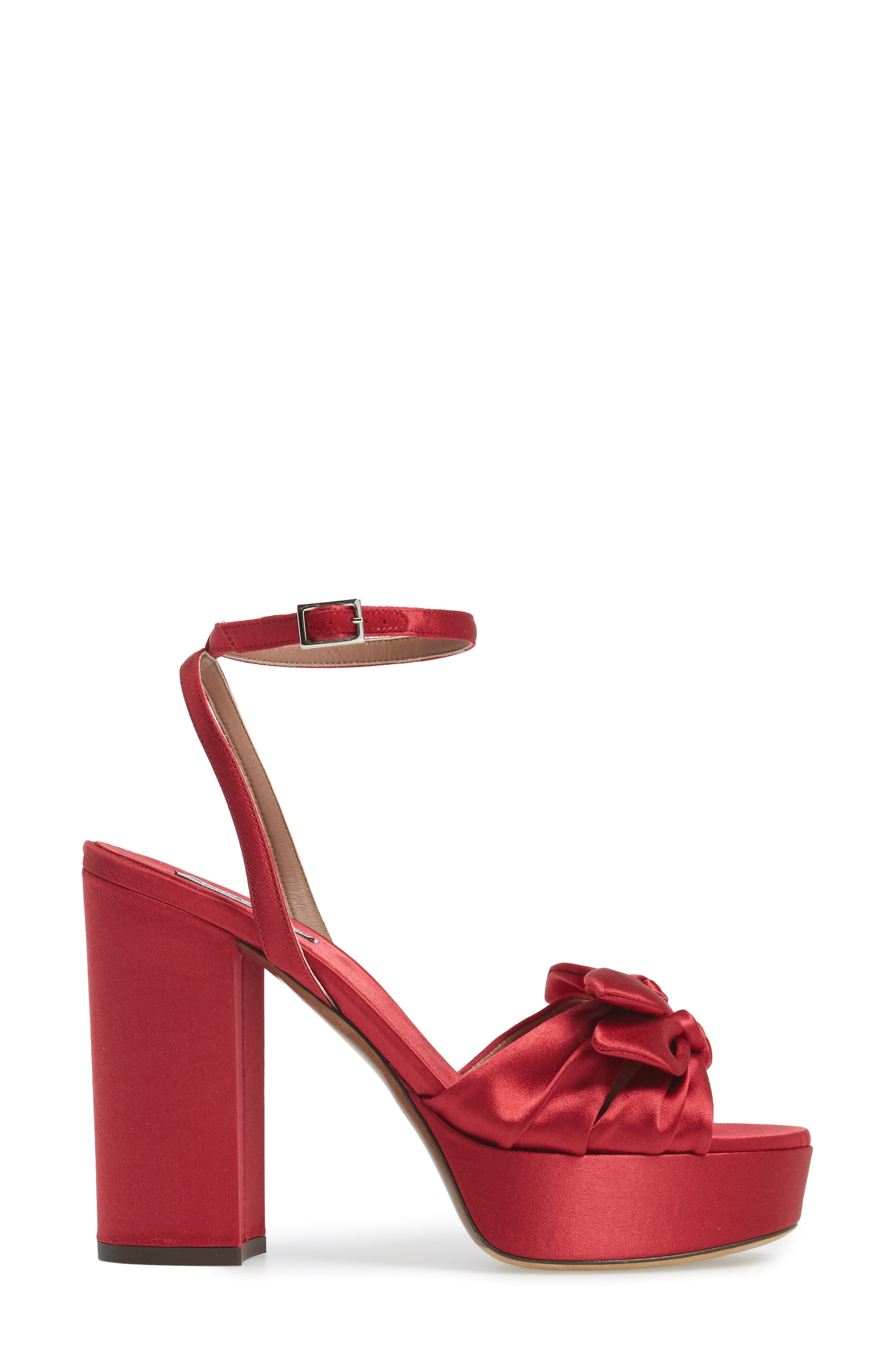 Jodie Platform Sandal,                             Alternate thumbnail 3, color,                             Red