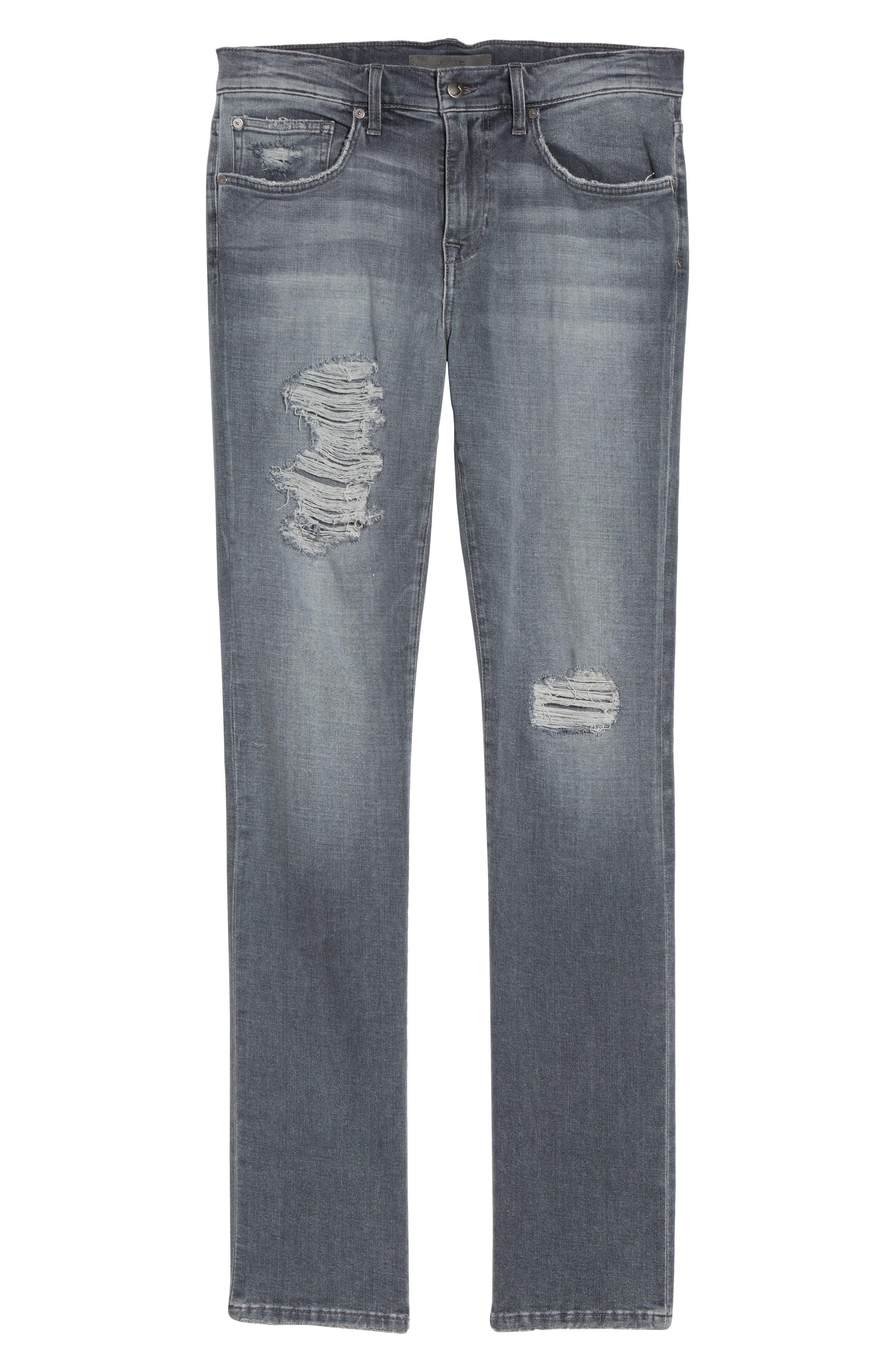 Alternate Image 6  - Joe's Brixton Distressed Slim Straight Fit Jeans (Frehley)