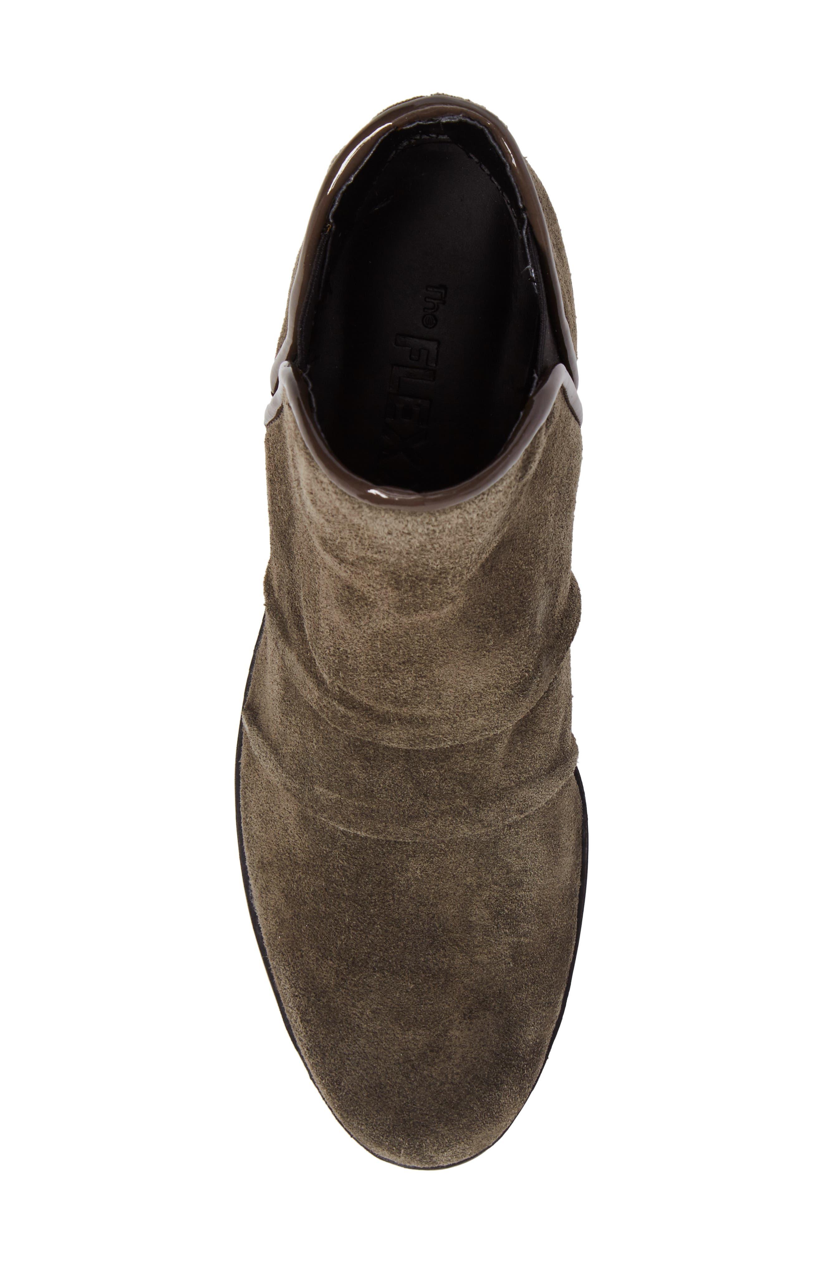 'Spaceless' Chelsea Wedge Boot,                             Alternate thumbnail 5, color,                             Khaki Suede