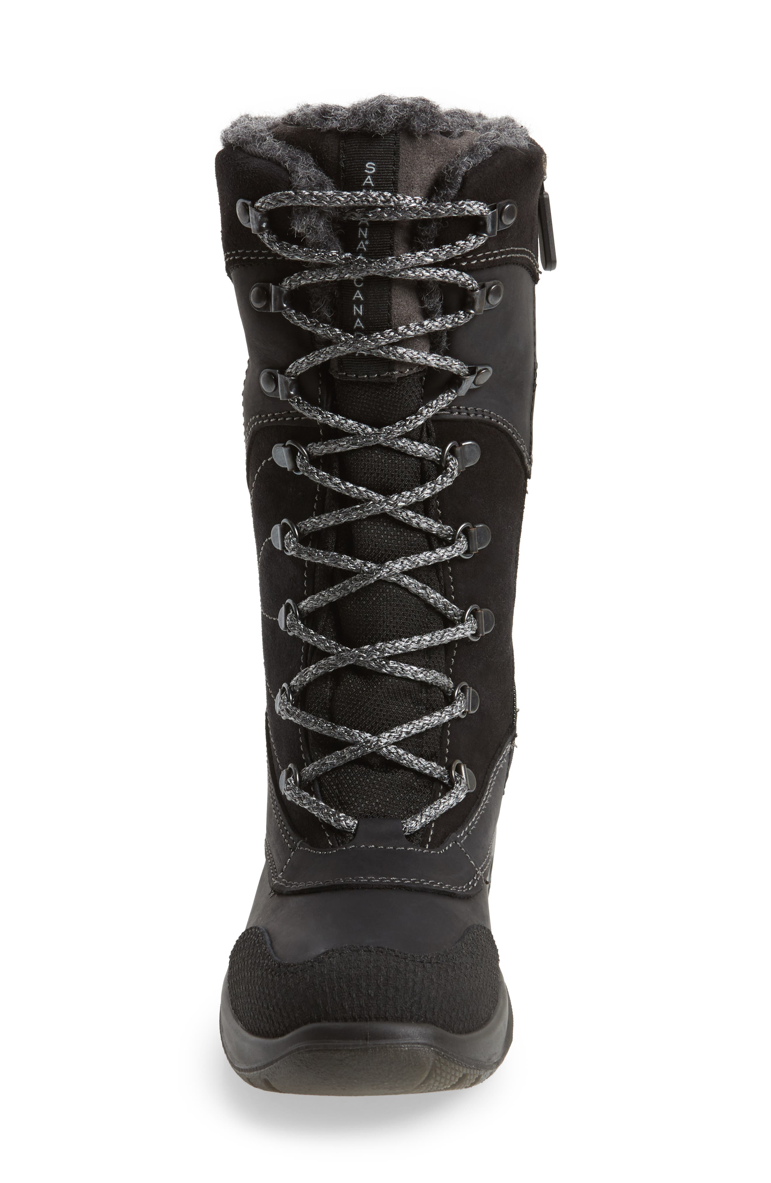 Topspeed Faux Fur Lined Waterproof Boot,                             Alternate thumbnail 4, color,                             Black Leather