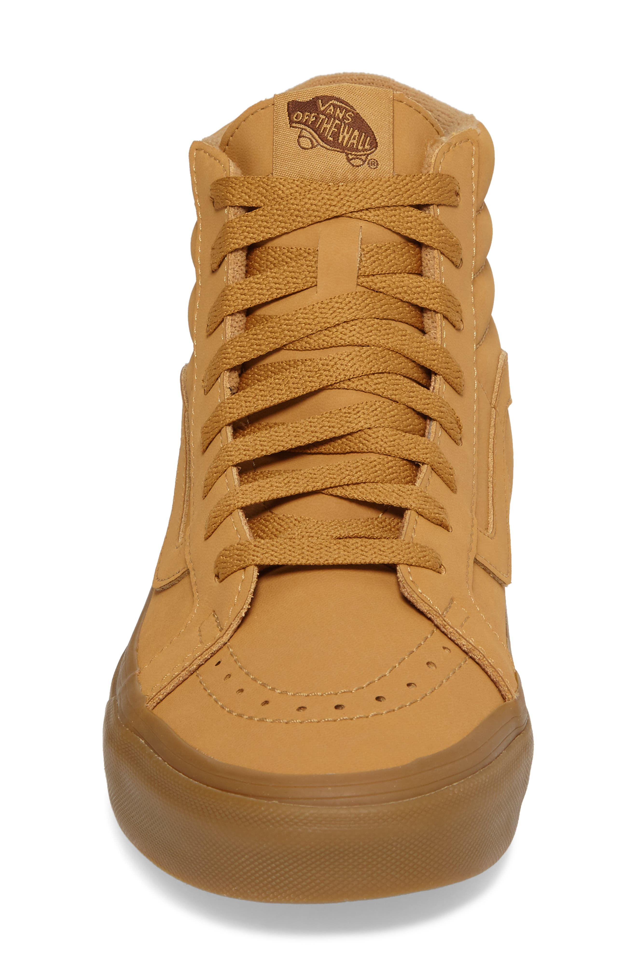 'Sk8-Hi Reissue' Sneaker,                             Alternate thumbnail 5, color,                             Light Gum/ Mono Canvas/Leather