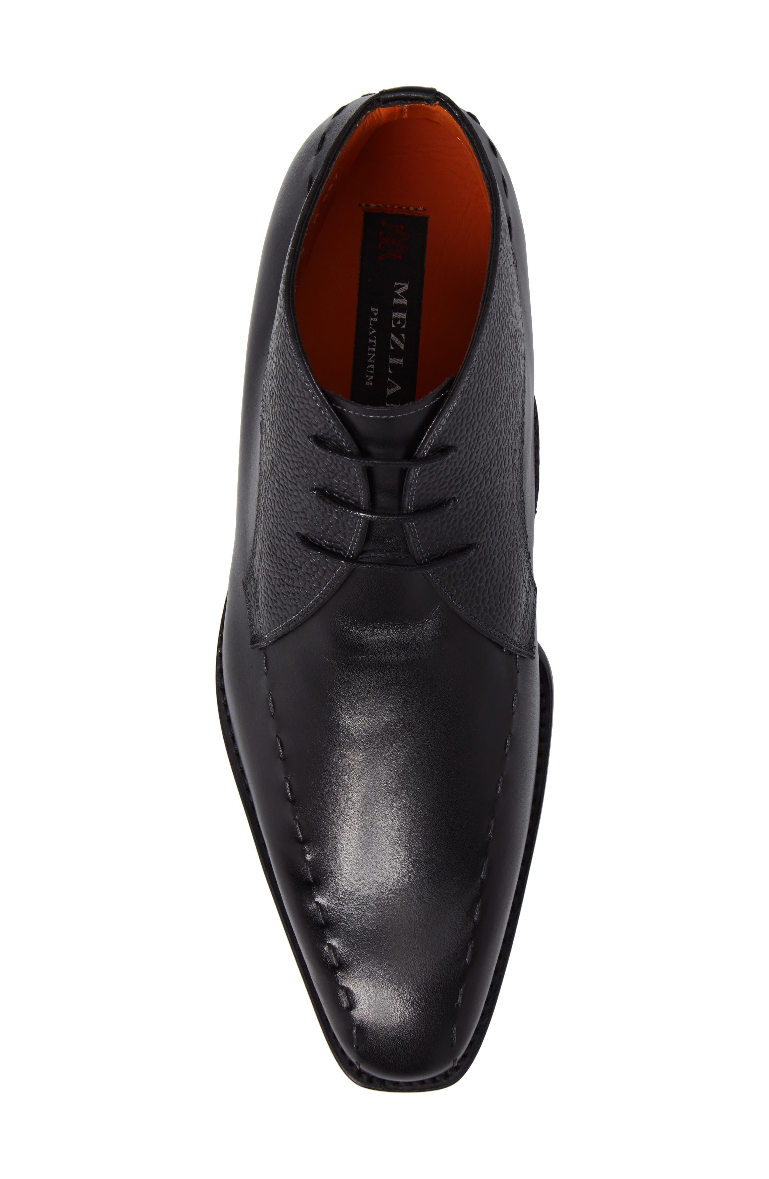 Moriles Chukka Boot,                             Alternate thumbnail 5, color,                             Black Leather