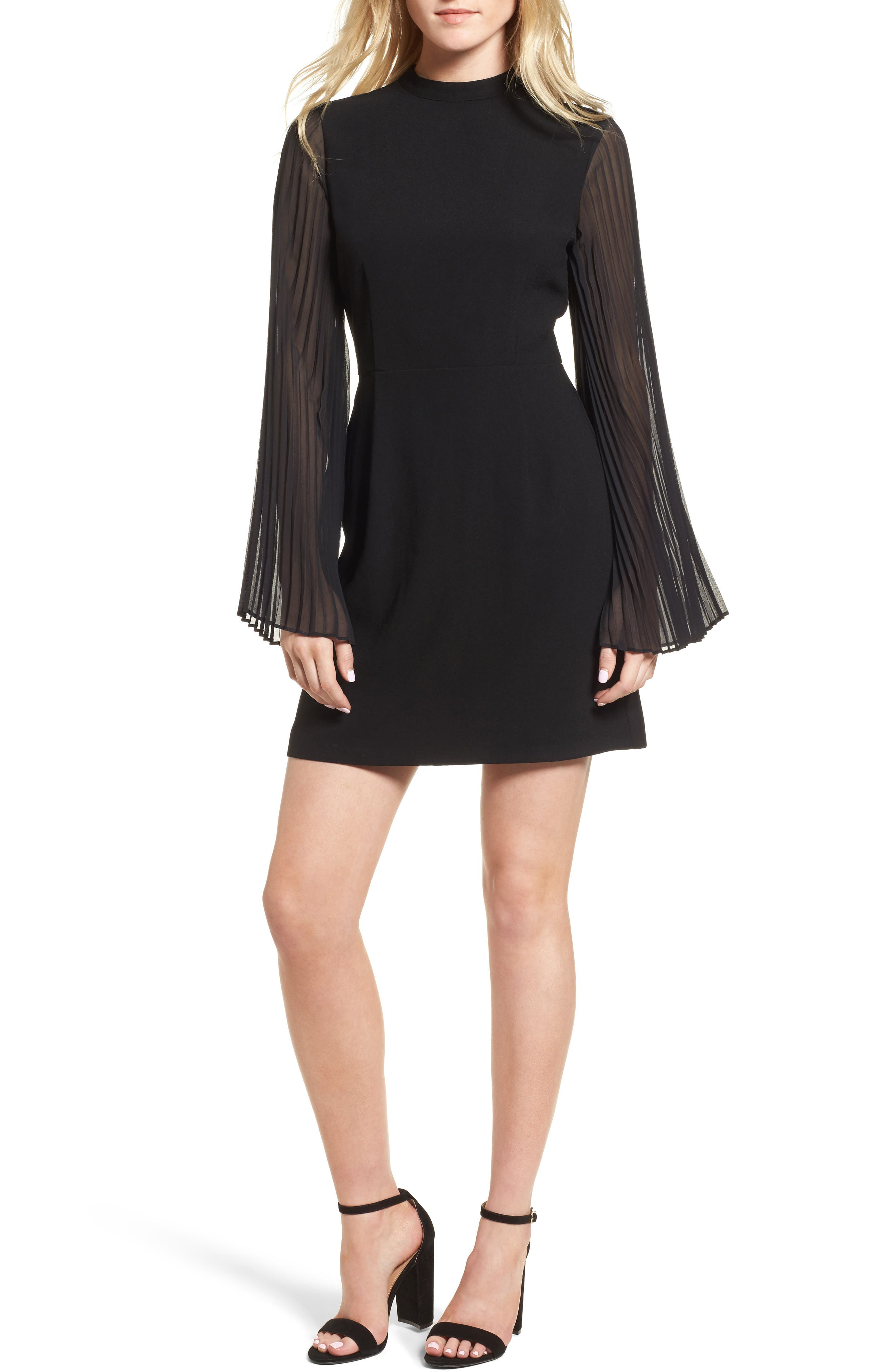 Yasmina Sheath Dress,                         Main,                         color, Black