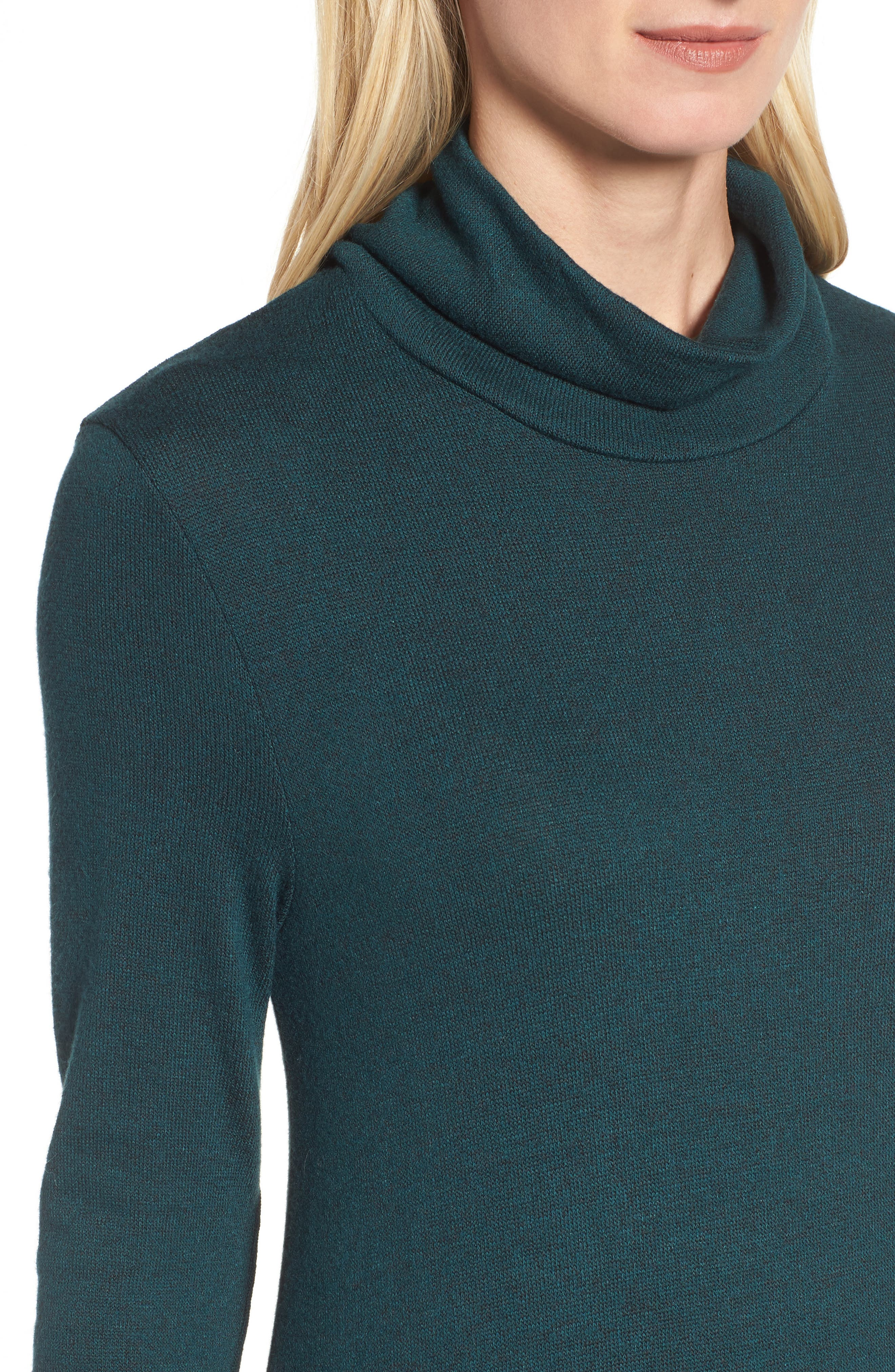 Alternate Image 4  - Halogen® Ruffle Hem Turtleneck Dress