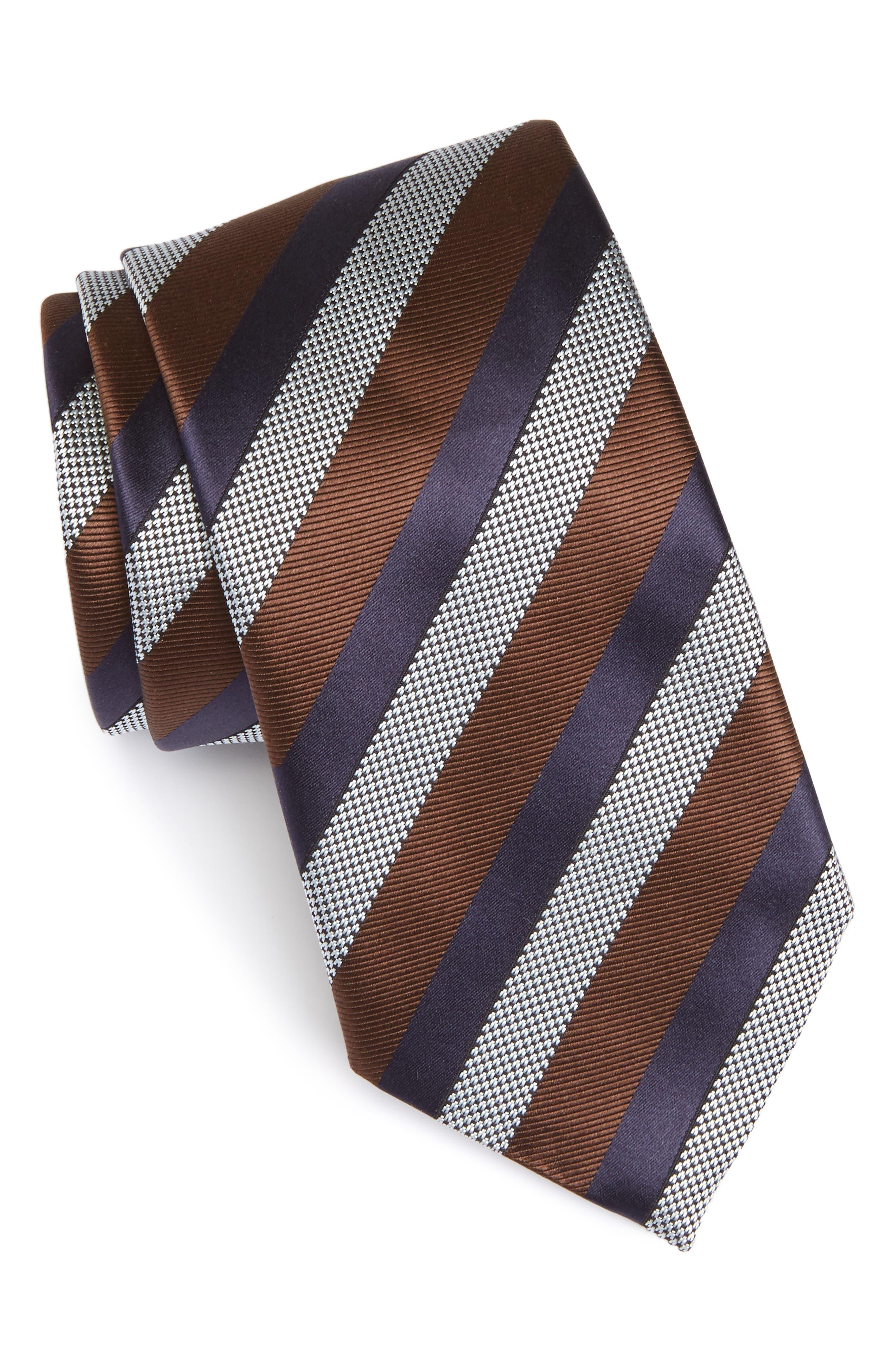 Main Image - Ermenegildo Zegna Stripe Silk Tie