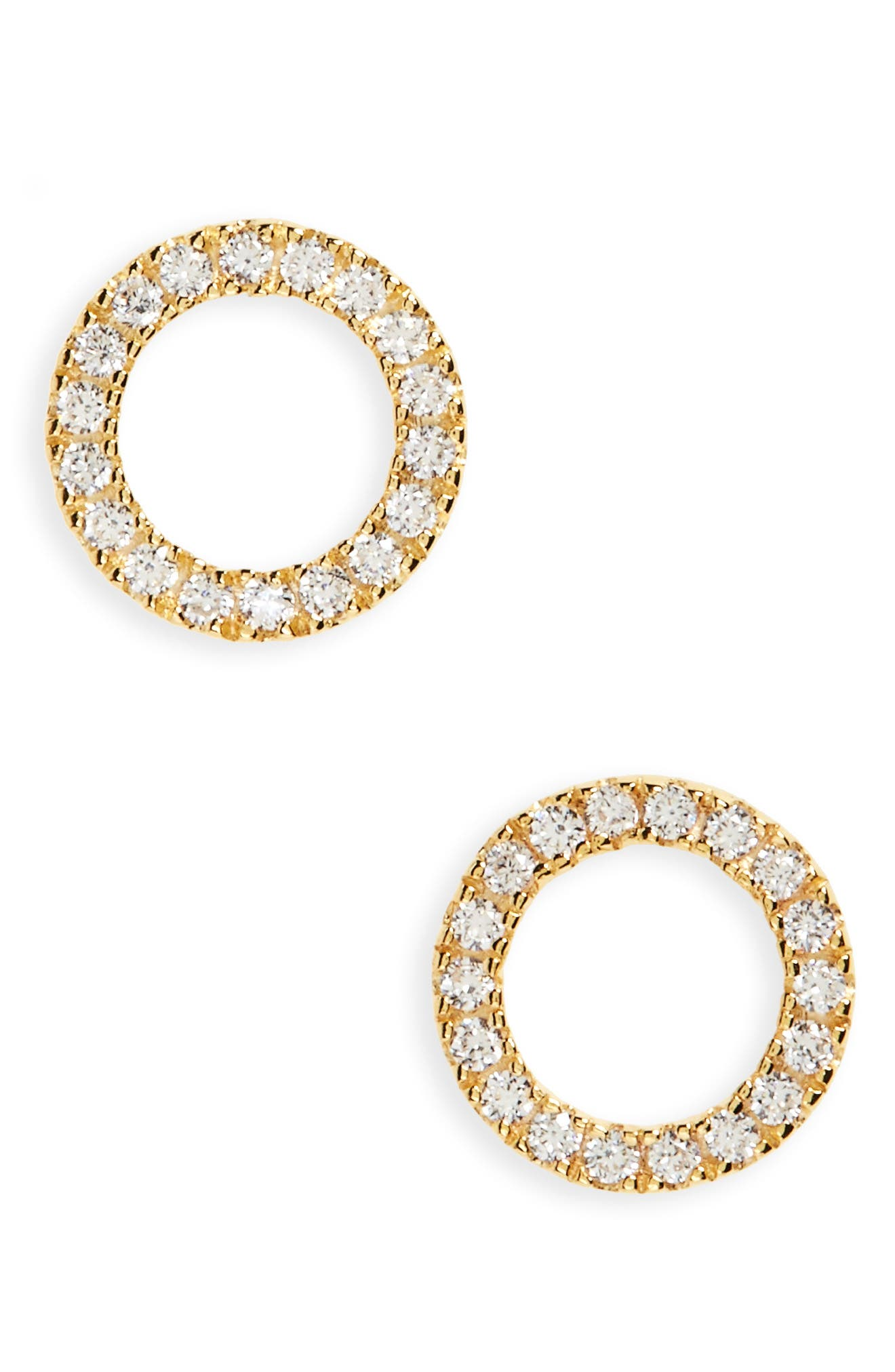 Main Image - Nordstrom Open Circle Stud Earrings