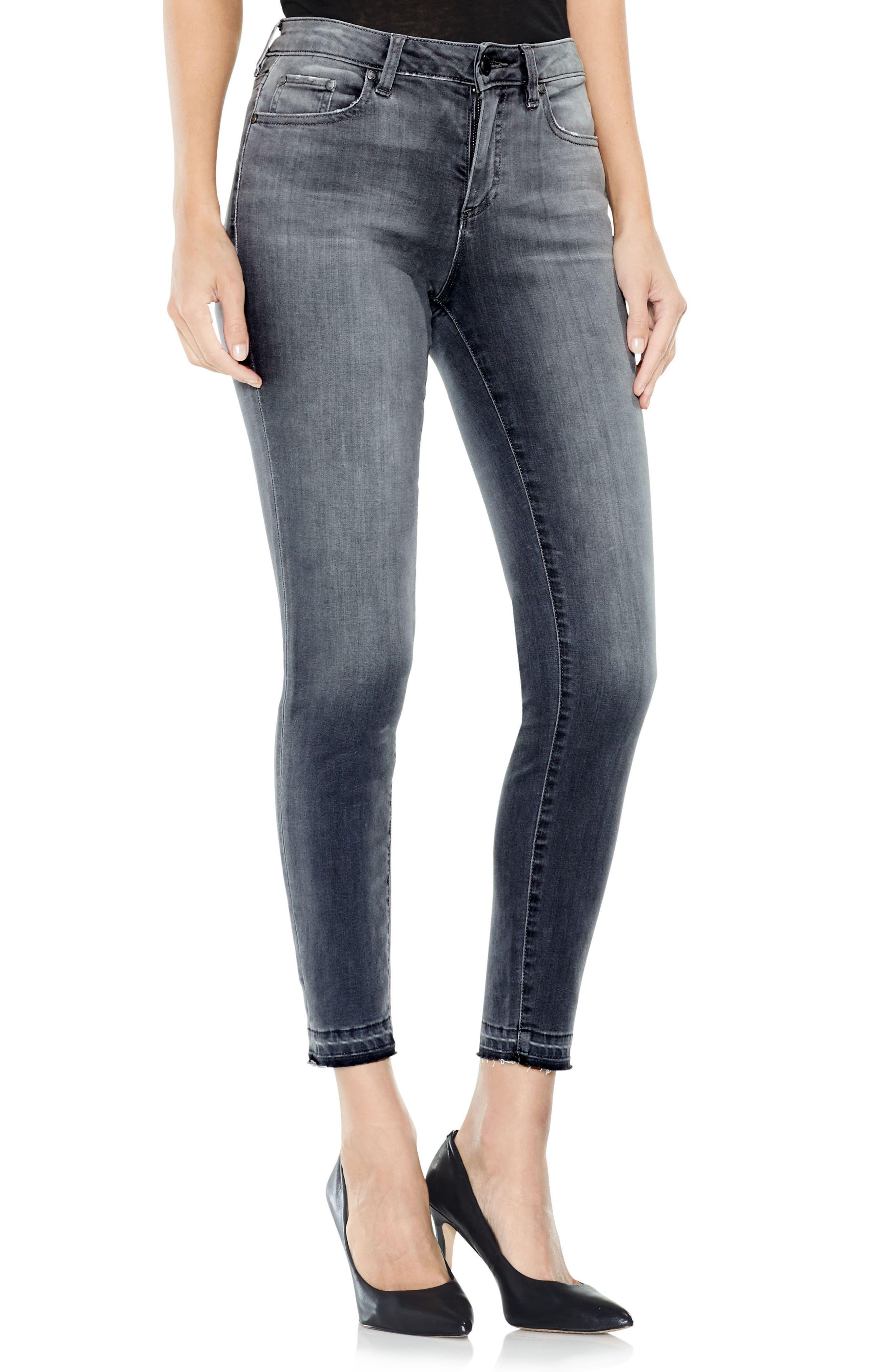 Grey Released Hem Jeans,                         Main,                         color, Cobblestone