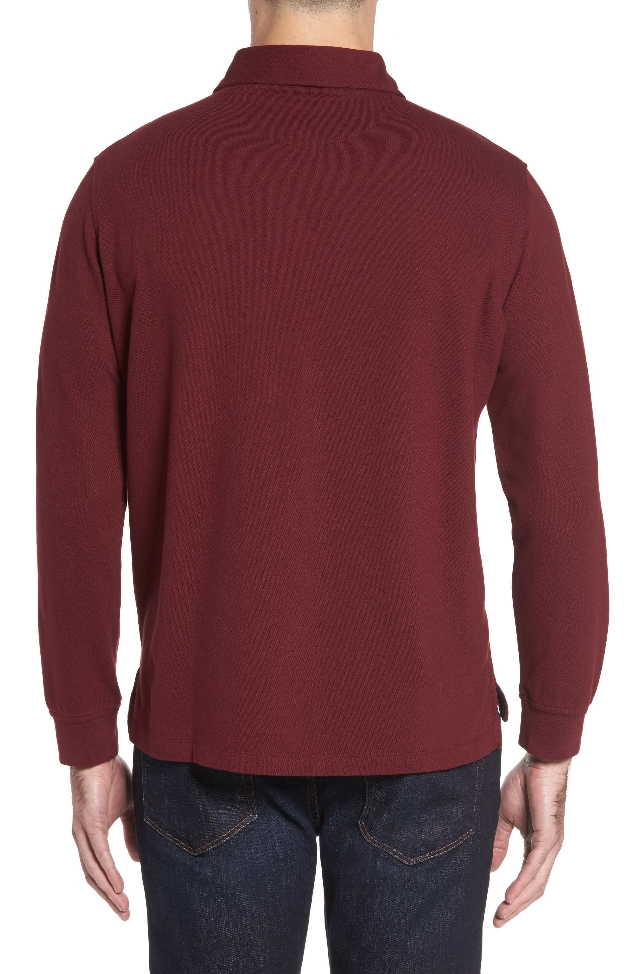 Alternate Image 2  - TailorByrd Two-Tone Piqué Knit Polo