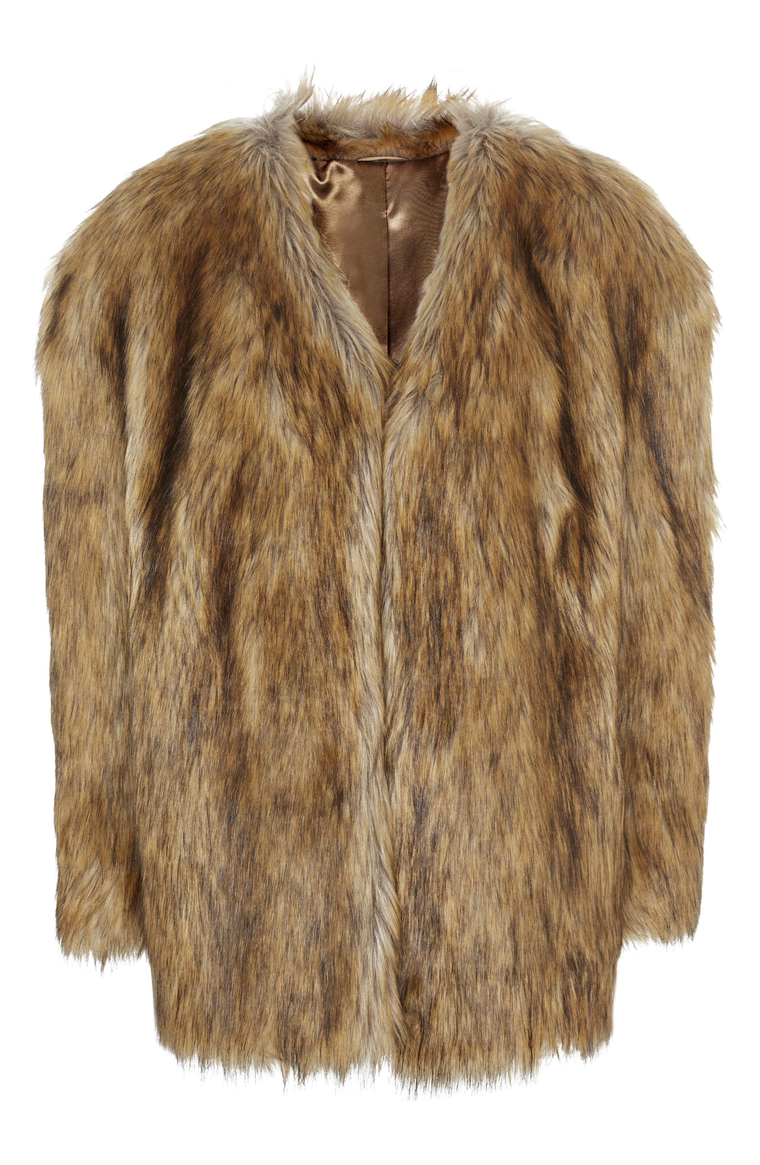 Alternate Image 1 Selected - Topshop Chubby Faux Fur Coat