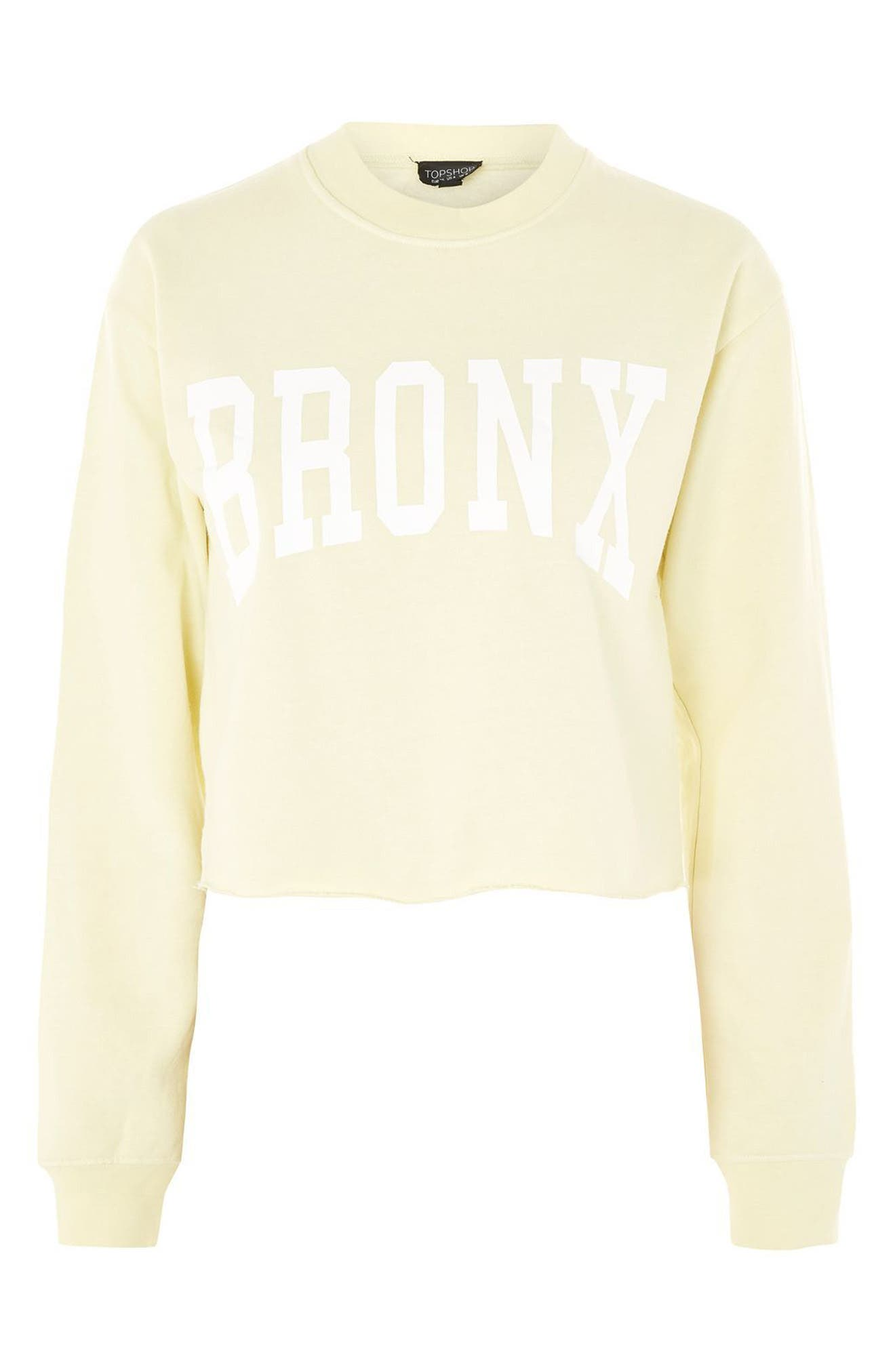 Bronx Cropped Sweatshirt,                             Alternate thumbnail 5, color,                             Yellow