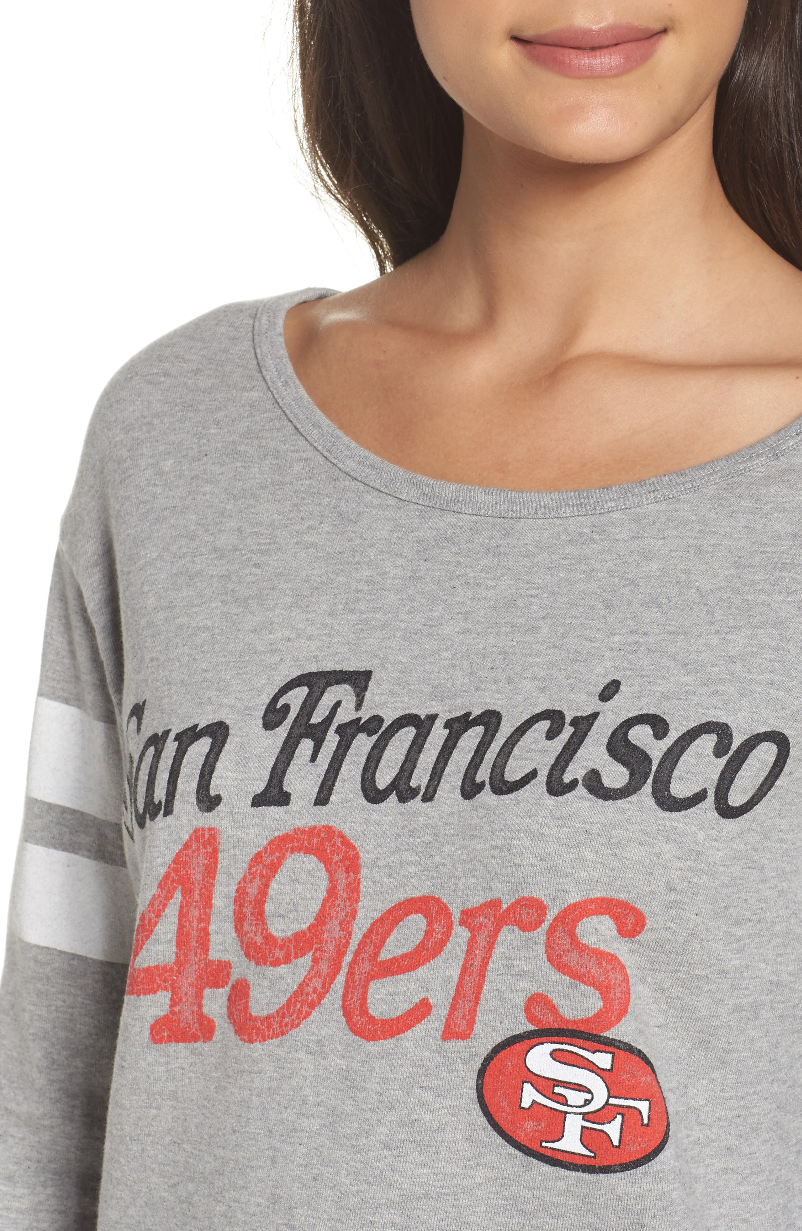 NFL San Francisco 49ers Champion Sweatshirt,                             Alternate thumbnail 5, color,                             Heather Grey