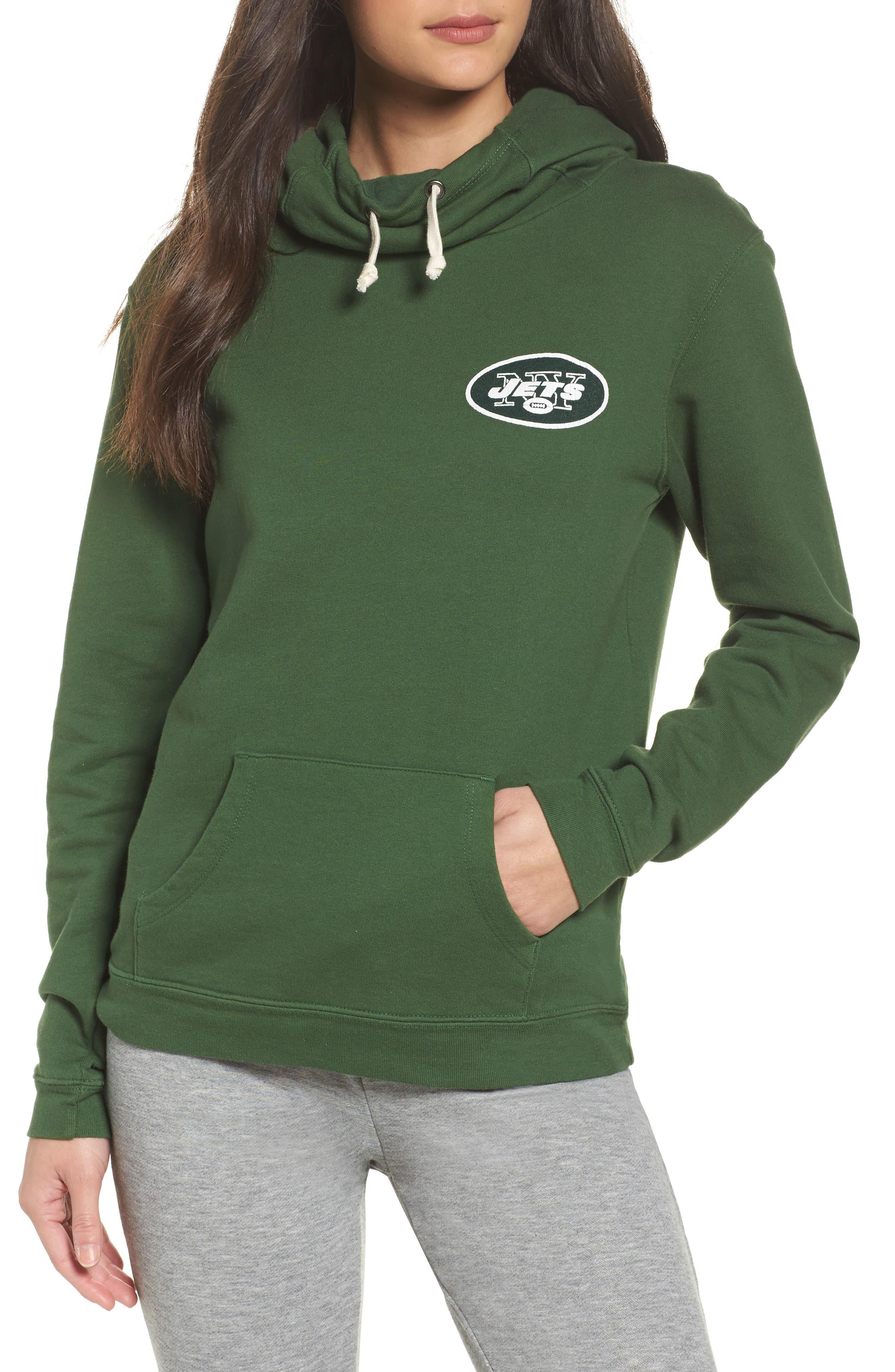 NFL New York Jets Sunday Hoodie,                         Main,                         color, Hunter