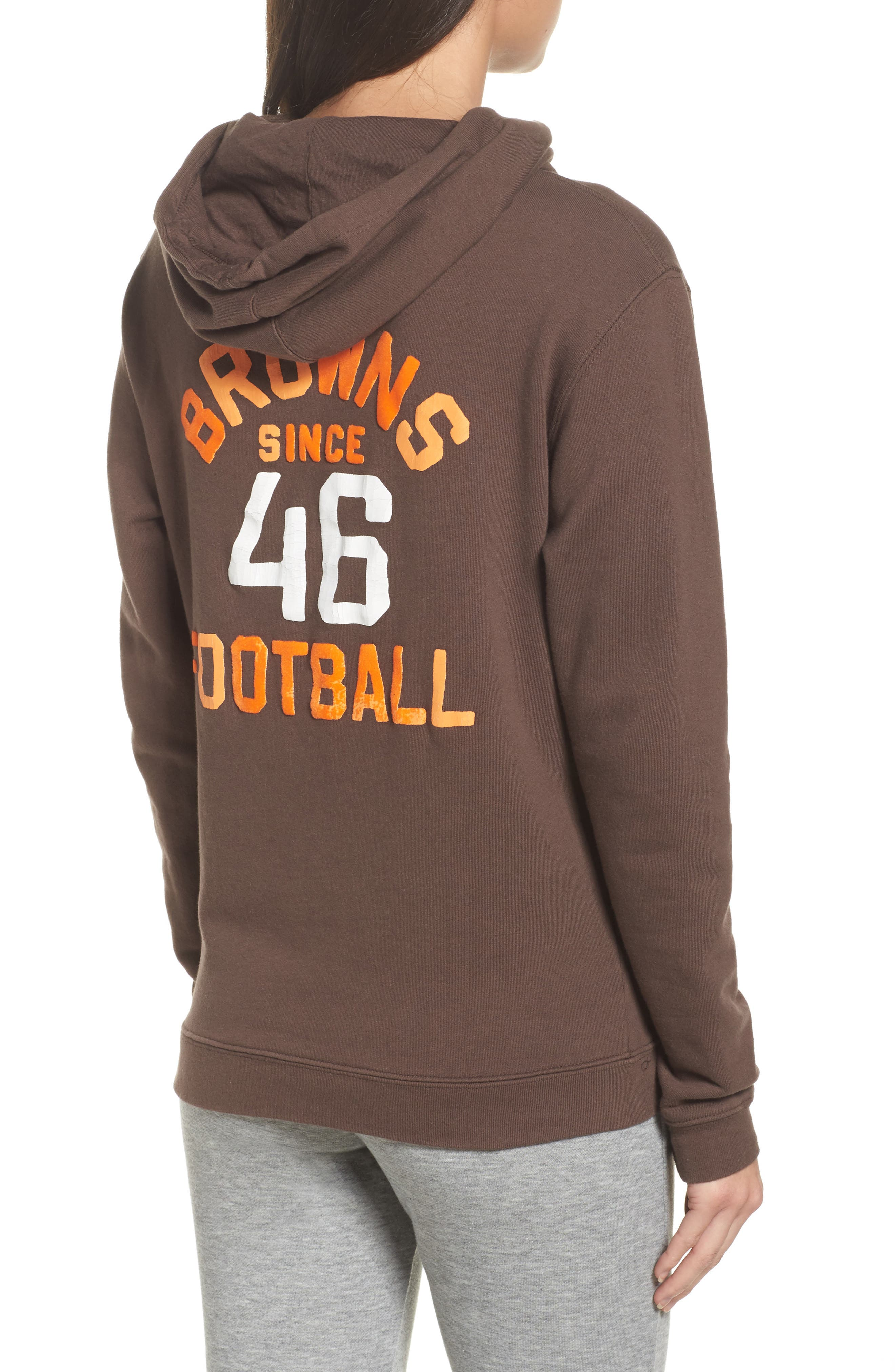 NFL Cleveland Browns Sunday Hoodie,                             Alternate thumbnail 2, color,                             Dark Chocolate