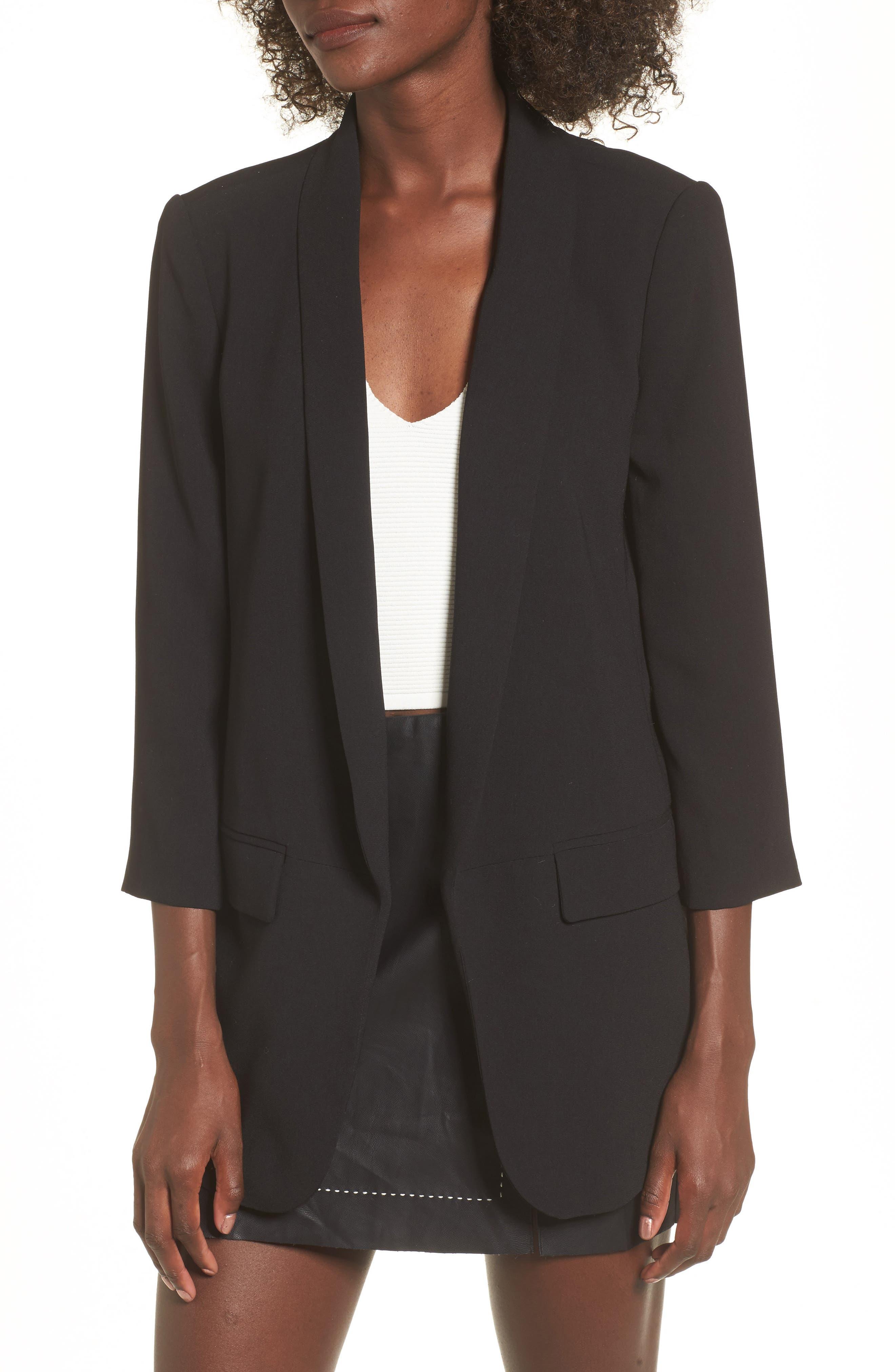 Longline Blazer,                         Main,                         color, Black