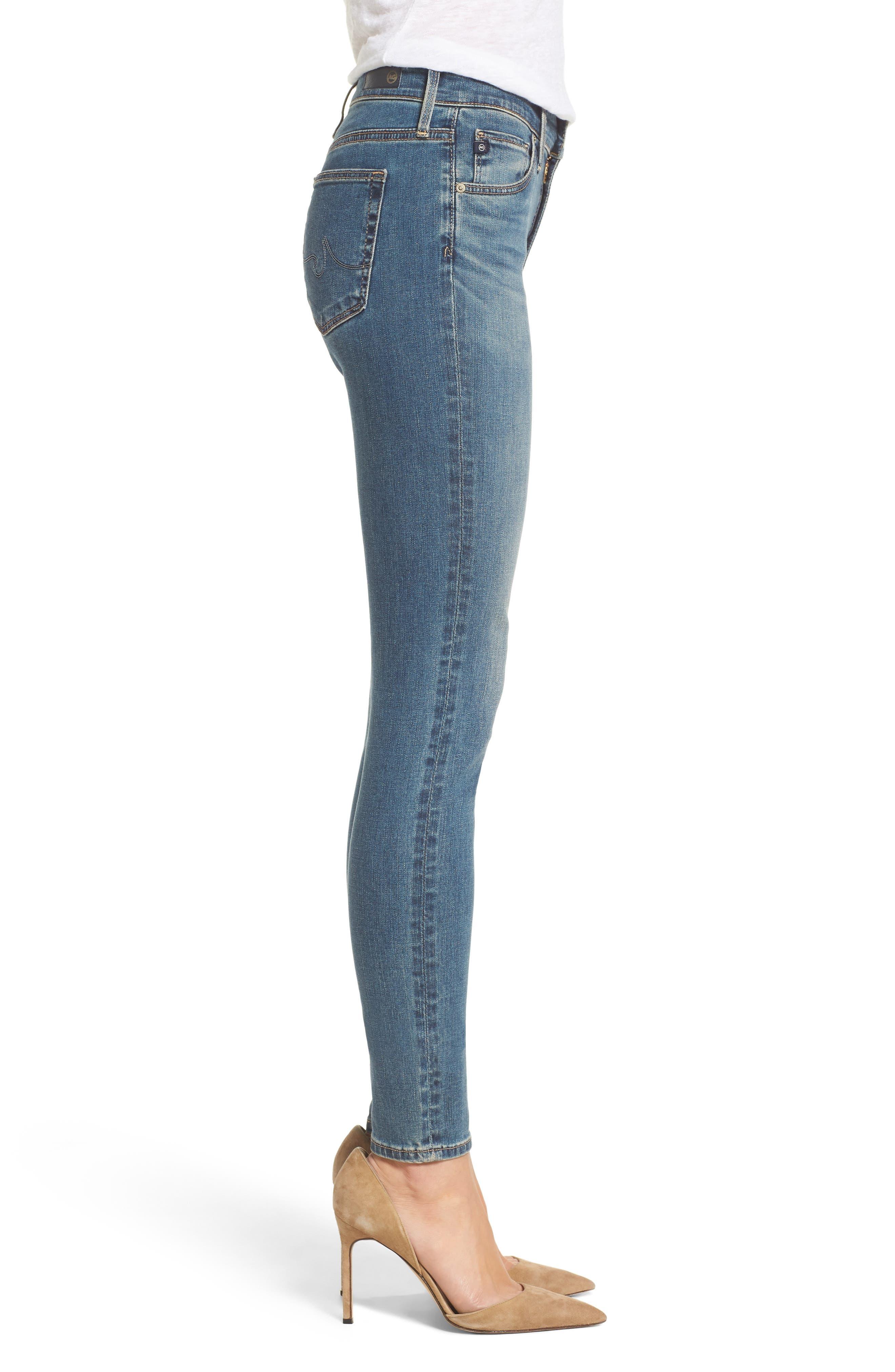 Alternate Image 3  - AG 'The Farrah' High Rise Skinny Jeans