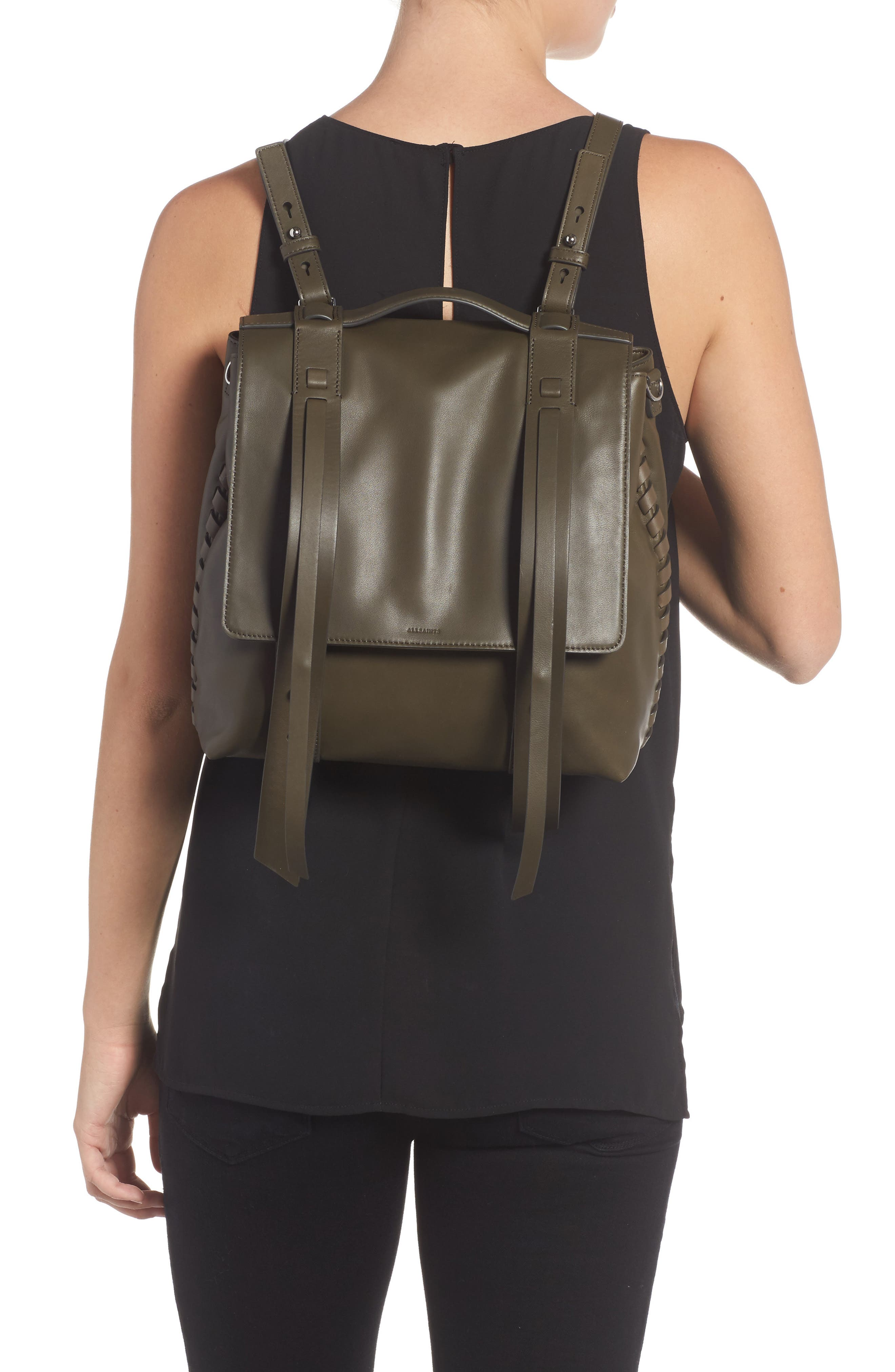Alternate Image 6  - ALLSAINTS Fin Leather Backpack