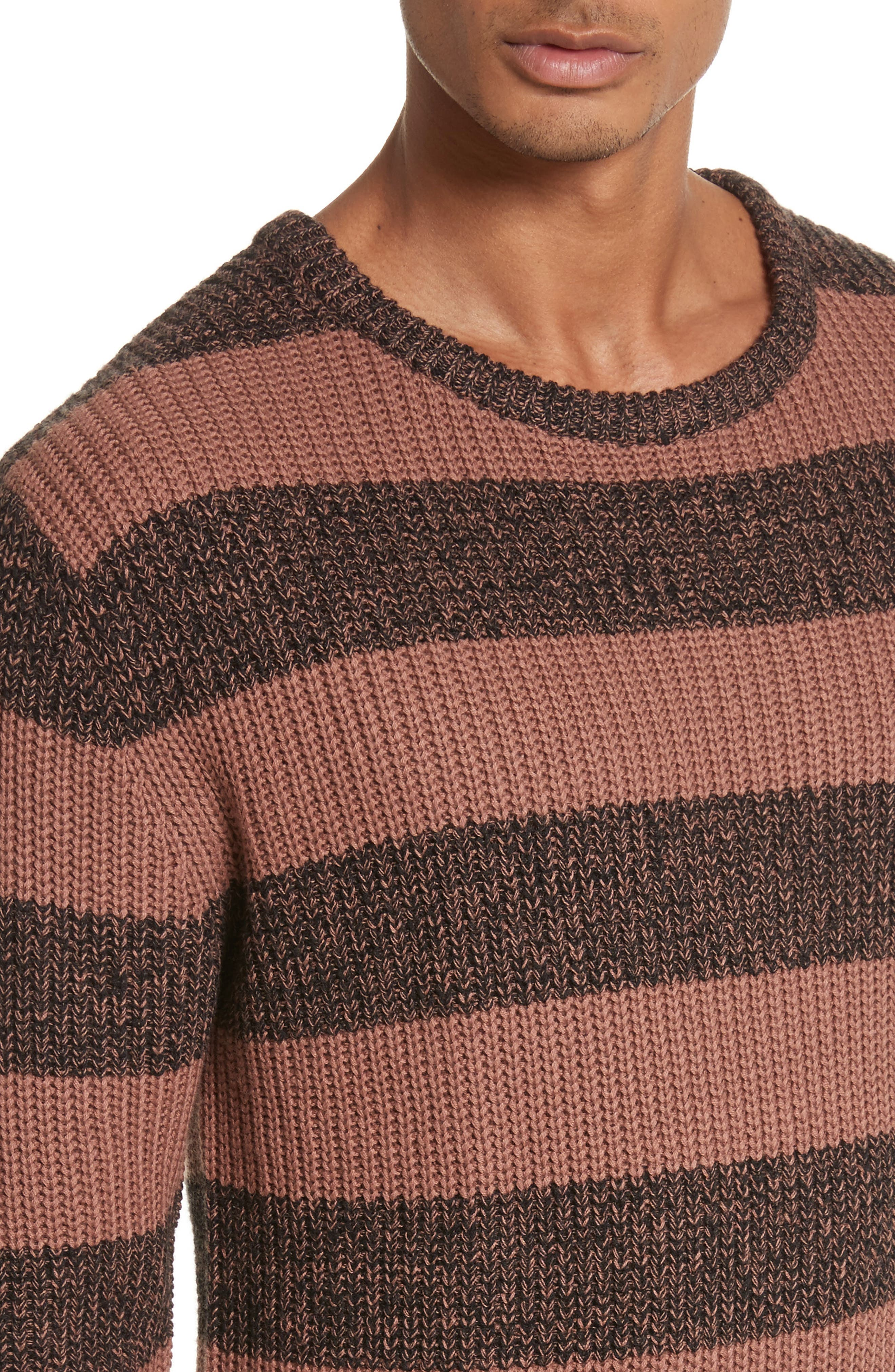 Alternate Image 4  - Saturdays NYC Lee Stripe Crewneck Sweater