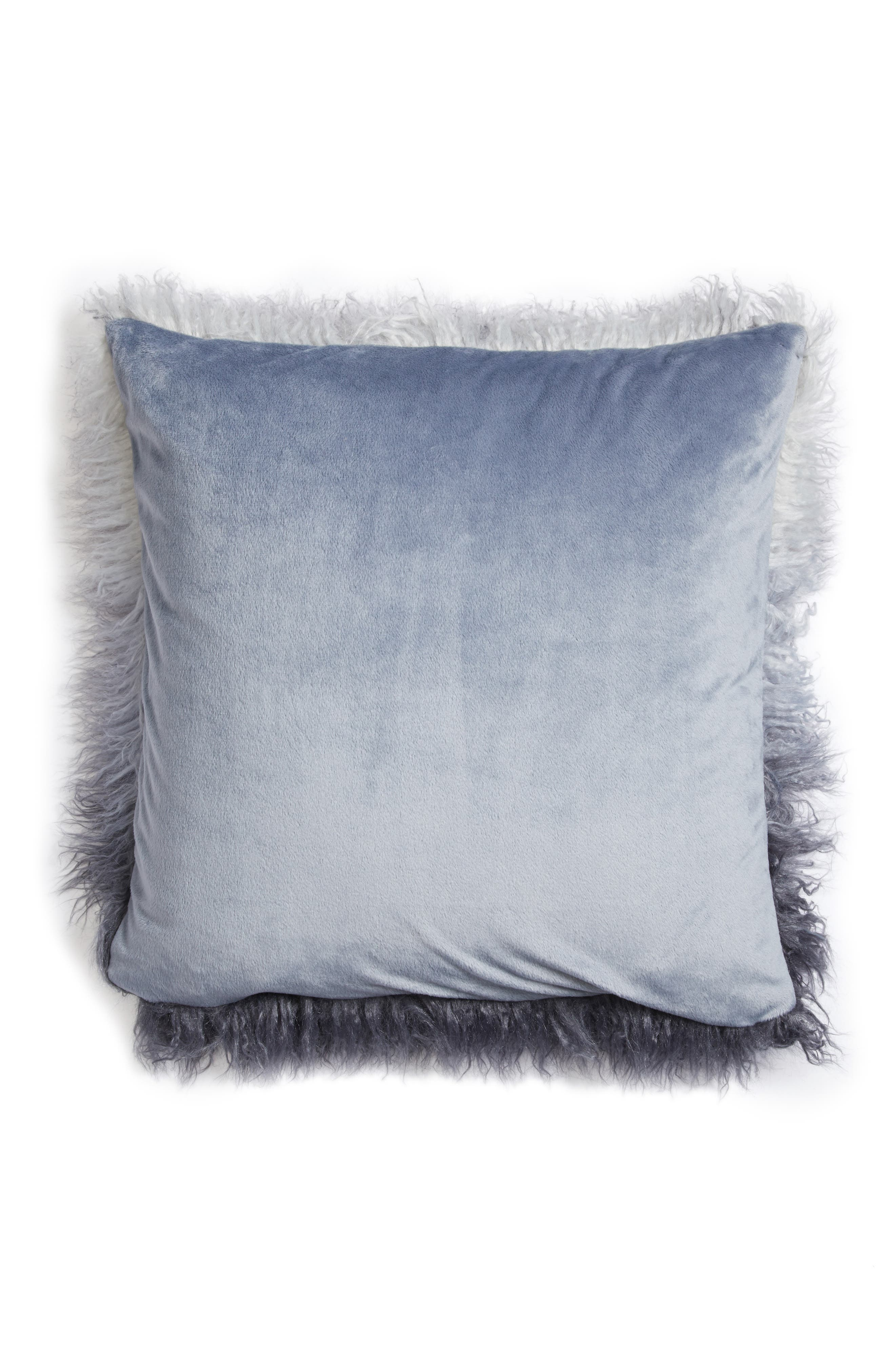 Alternate Image 3  - Nordstrom at Home Ombré Faux Fur Flokati Accent Pillow