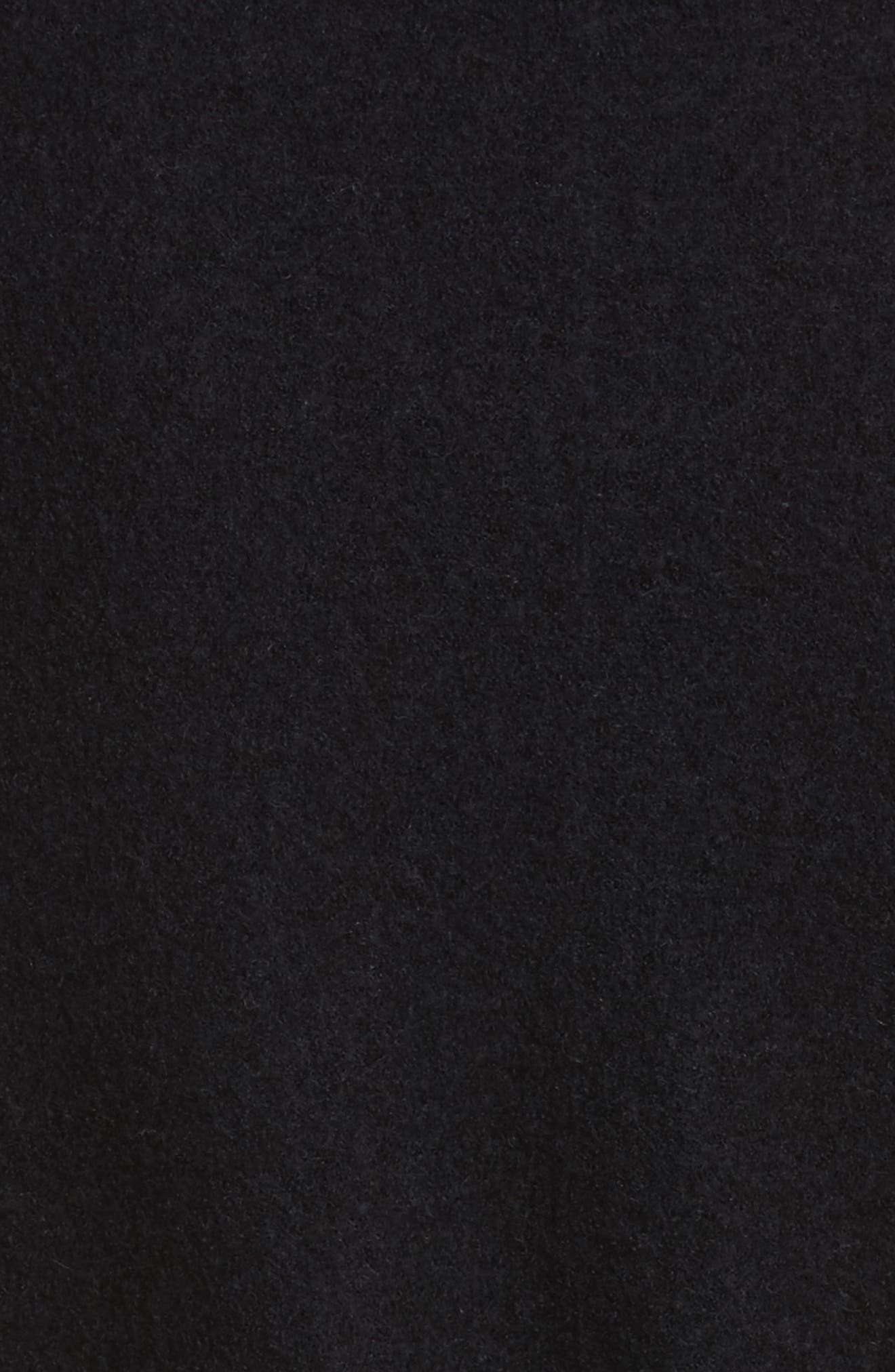 Side Slit Long Cardigan,                             Alternate thumbnail 5, color,                             Black