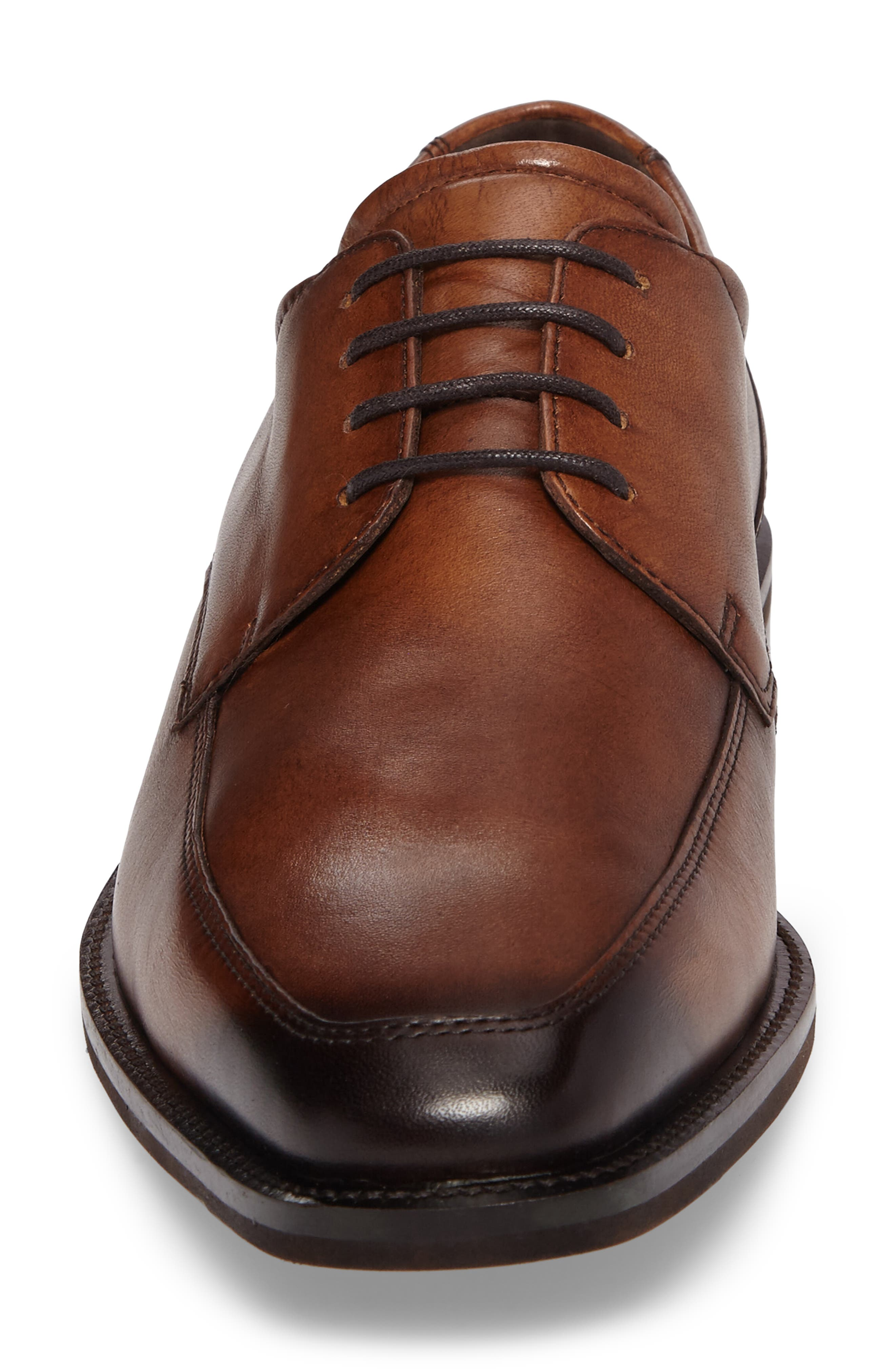 Faro Apron Toe Derby,                             Alternate thumbnail 4, color,                             Amber Leather