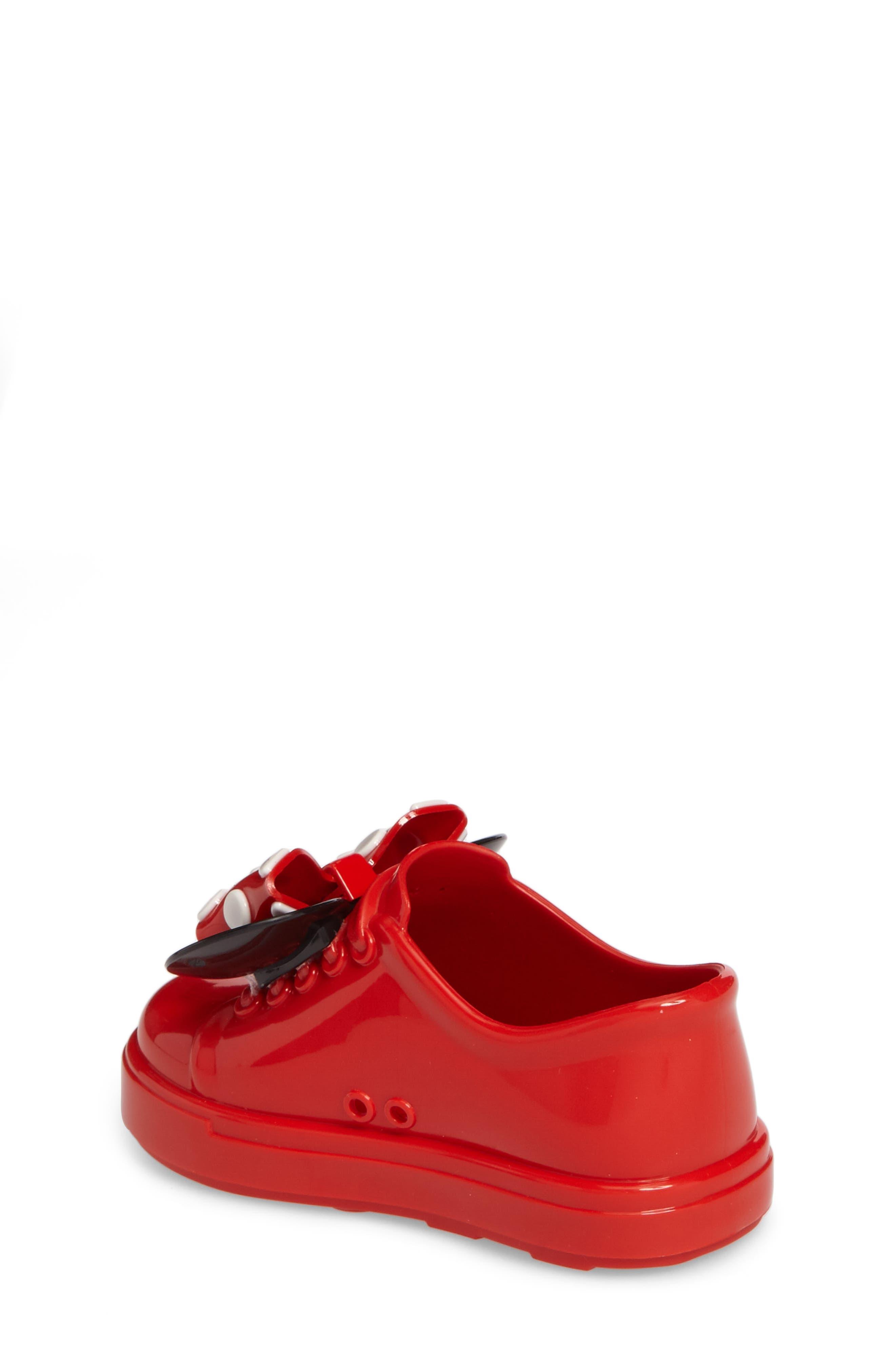 Mini Melissa Disney<sup>®</sup> Be Minnie Slip-On Sneaker,                             Alternate thumbnail 2, color,                             Black/ Bordeaux
