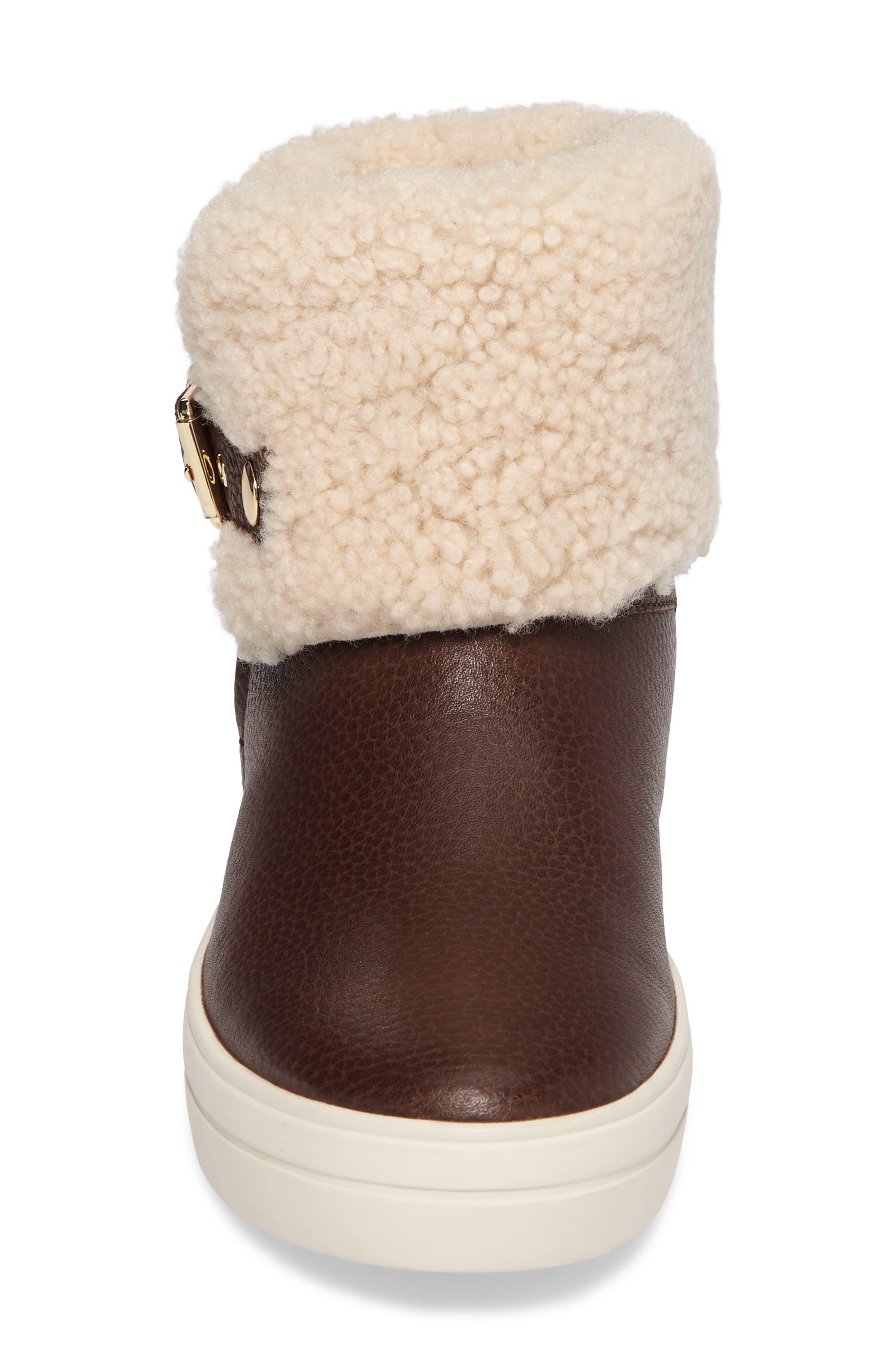 Alternate Image 5  - Burberry Genuine Shearling Boot (Women)