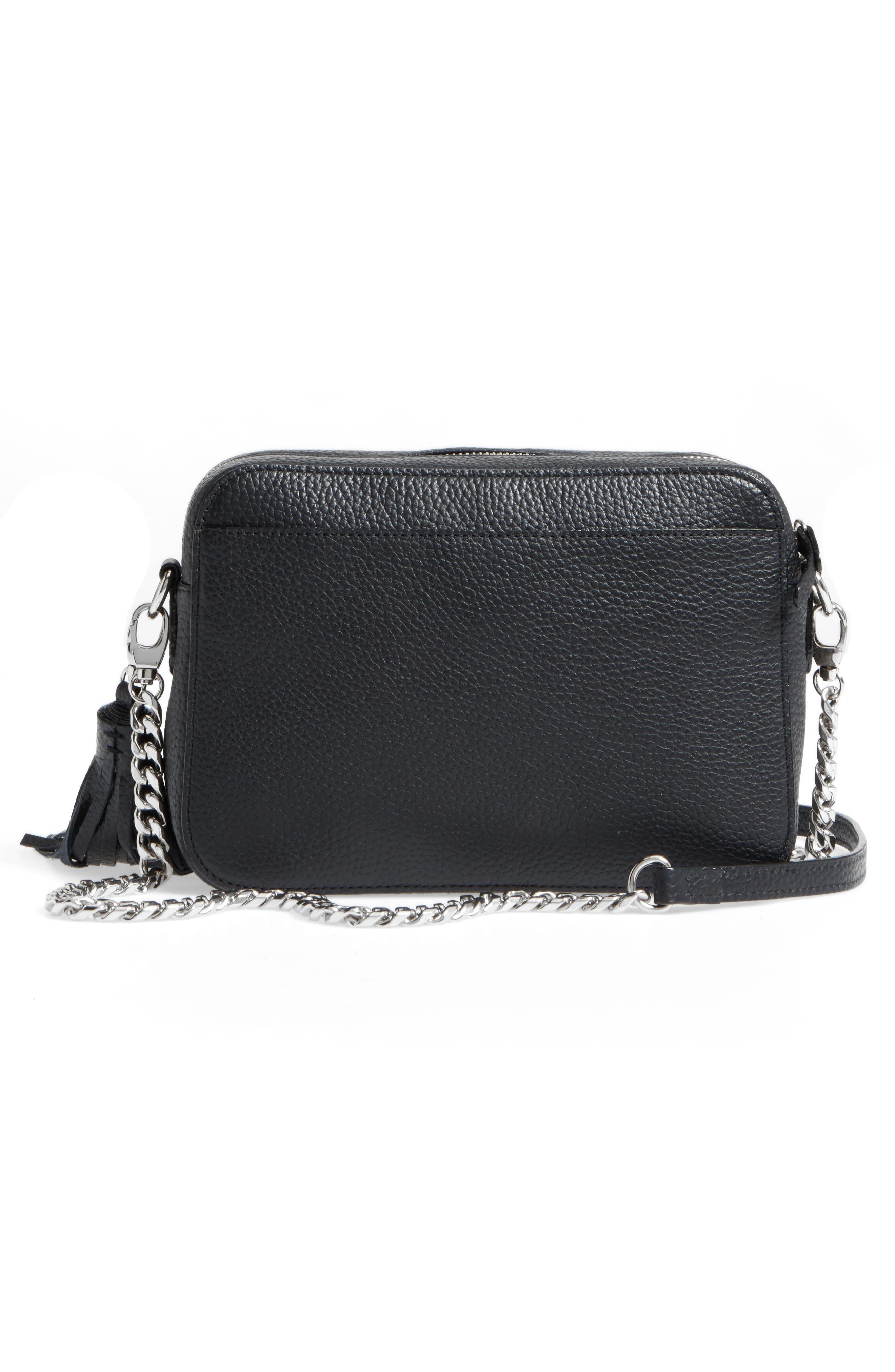 Alternate Image 6  - Nordstrom Ella Leather & Genuine Calf Hair Crossbody Bag