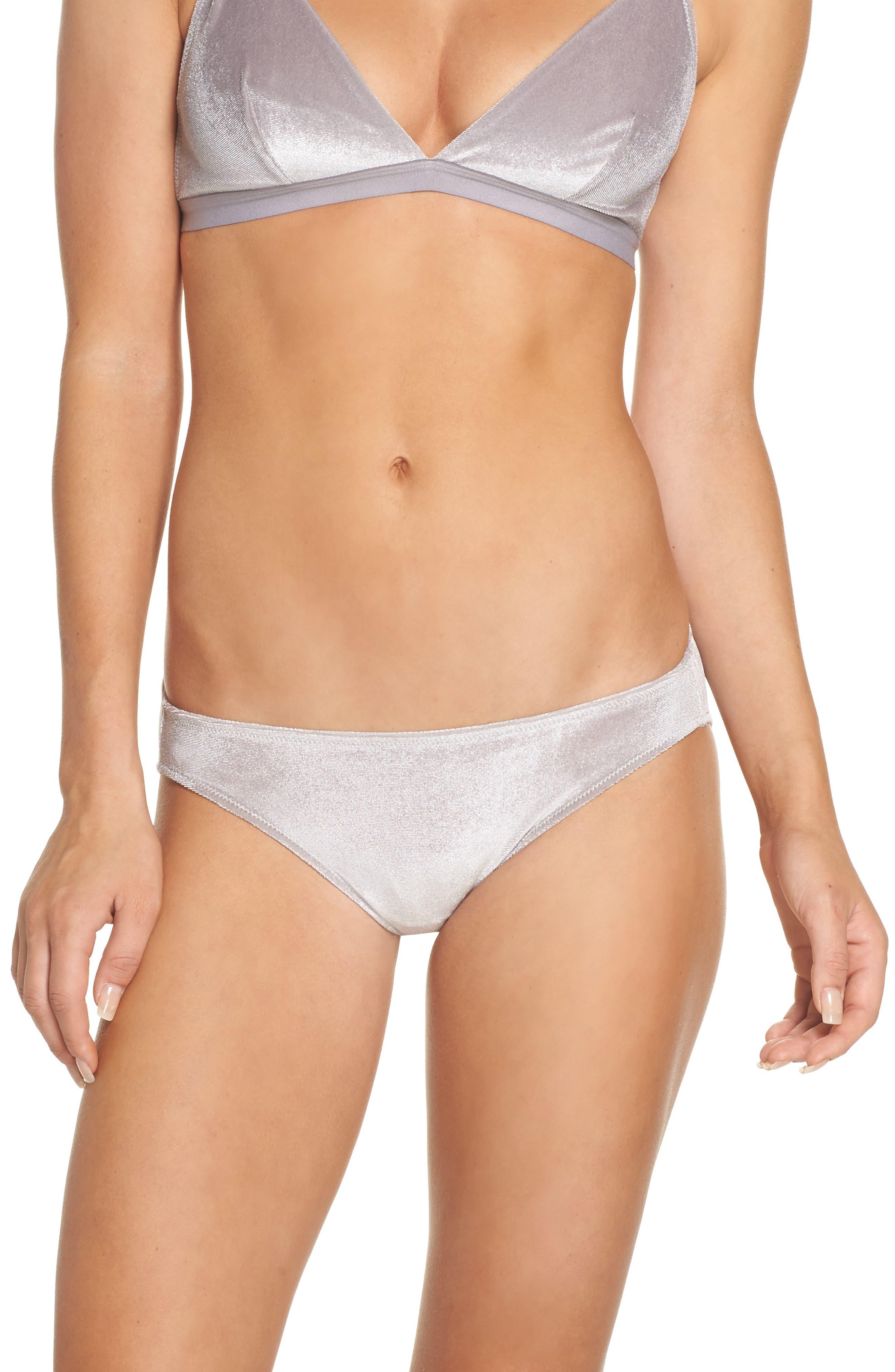 Alternate Image 1 Selected - Madewell Velvet Bikini (3 for $33)