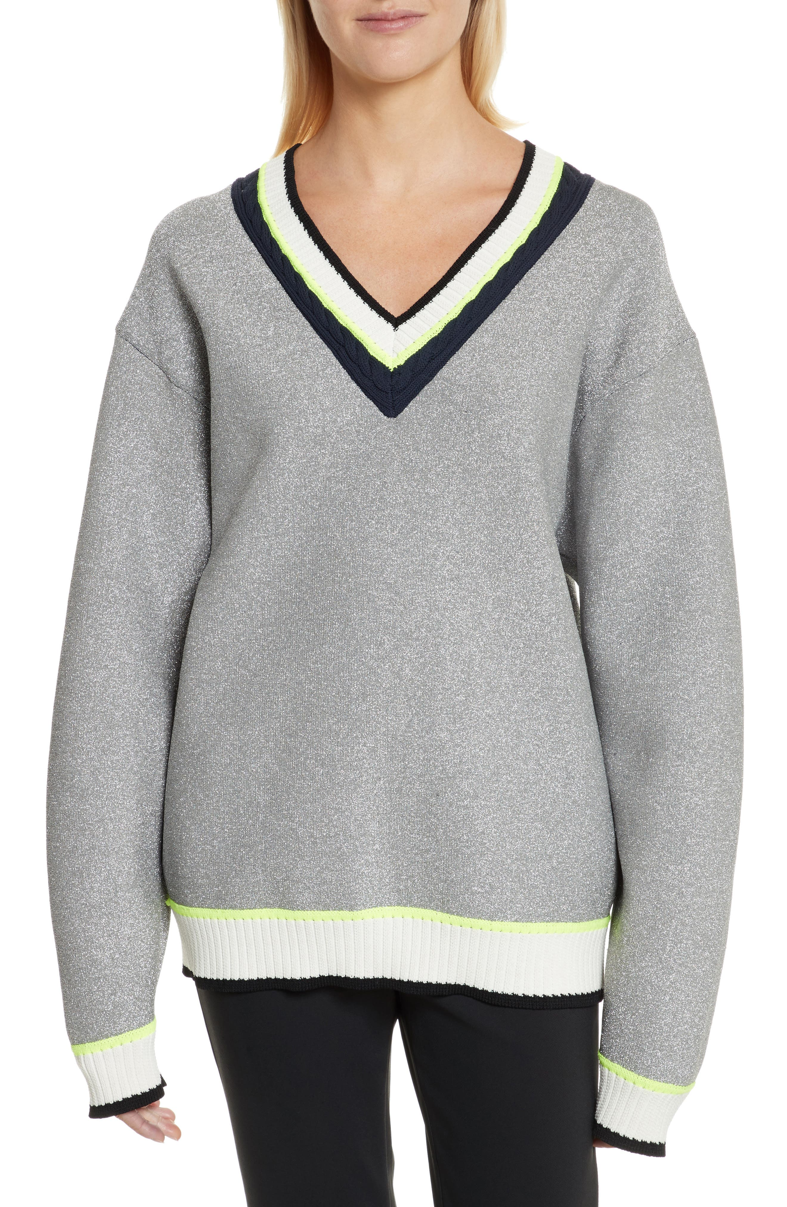 Opening Ceremony Sport Cable Neck Sweater