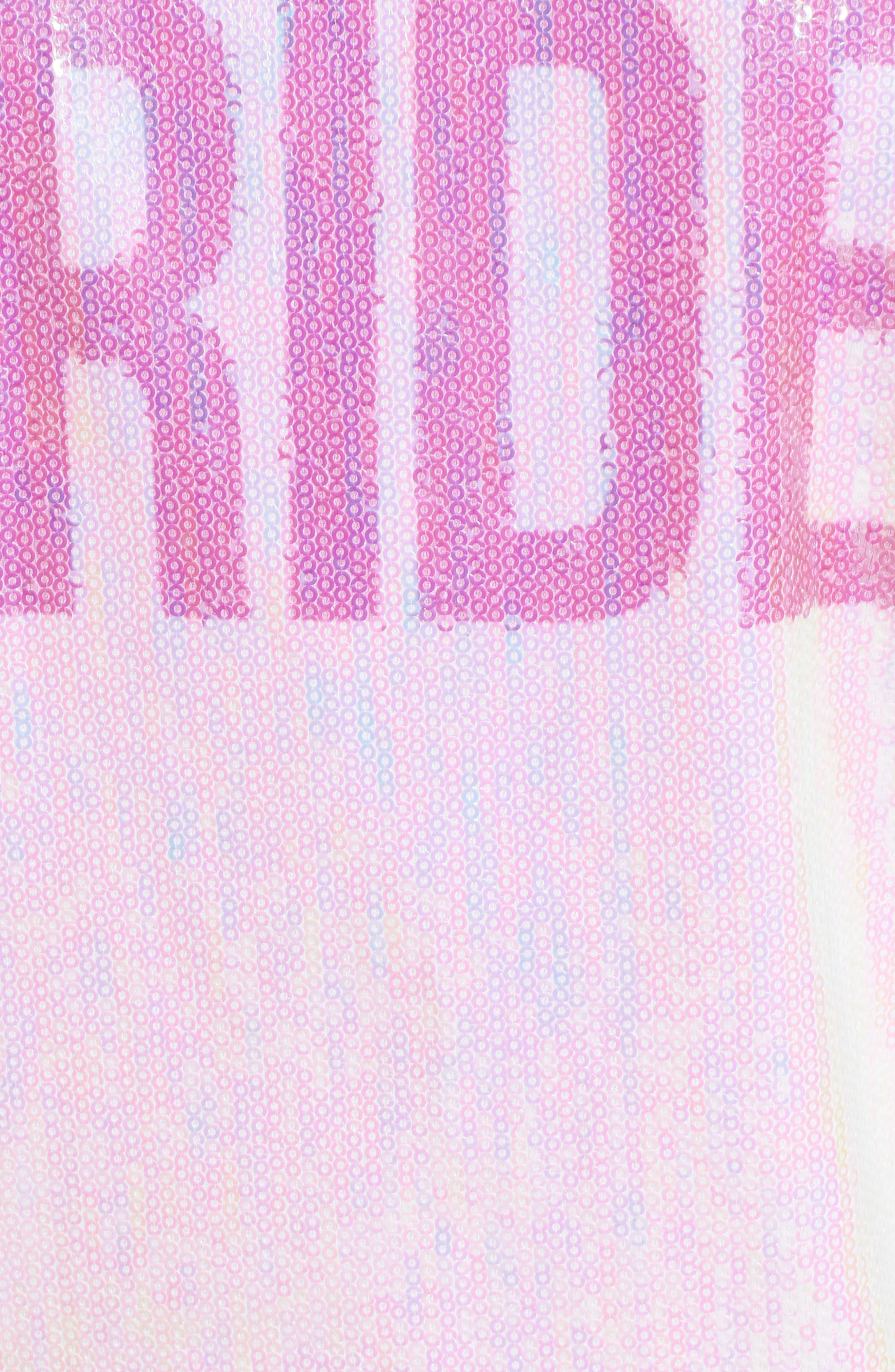 Sparkle Bride Bomber Jacket,                             Alternate thumbnail 5, color,                             Sparkle Bride