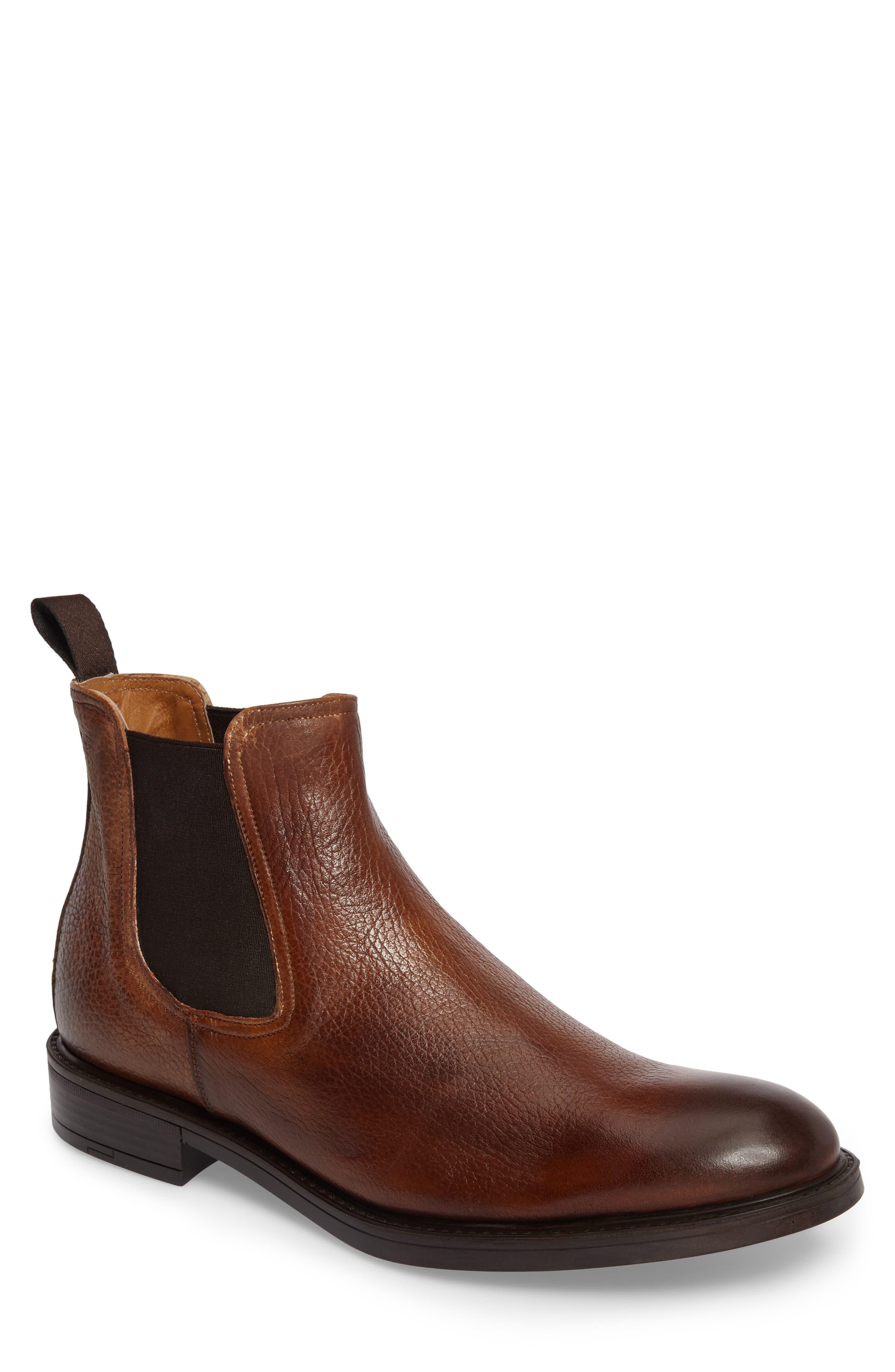 Chelsea Boot,                             Main thumbnail 1, color,                             Cognac Leather