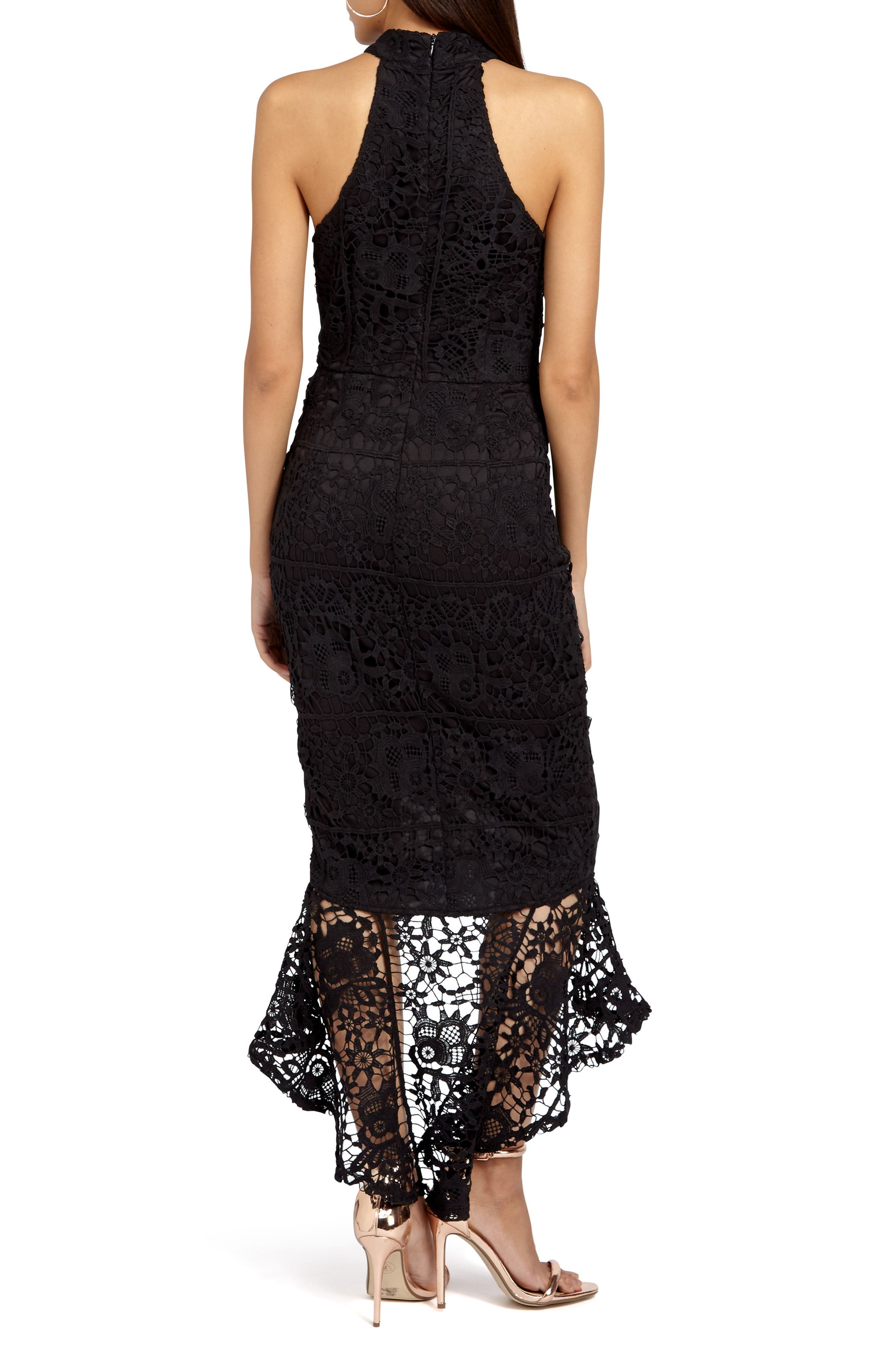 Alternate Image 2  - Missguided Lace Fishtail Body-Con Dress