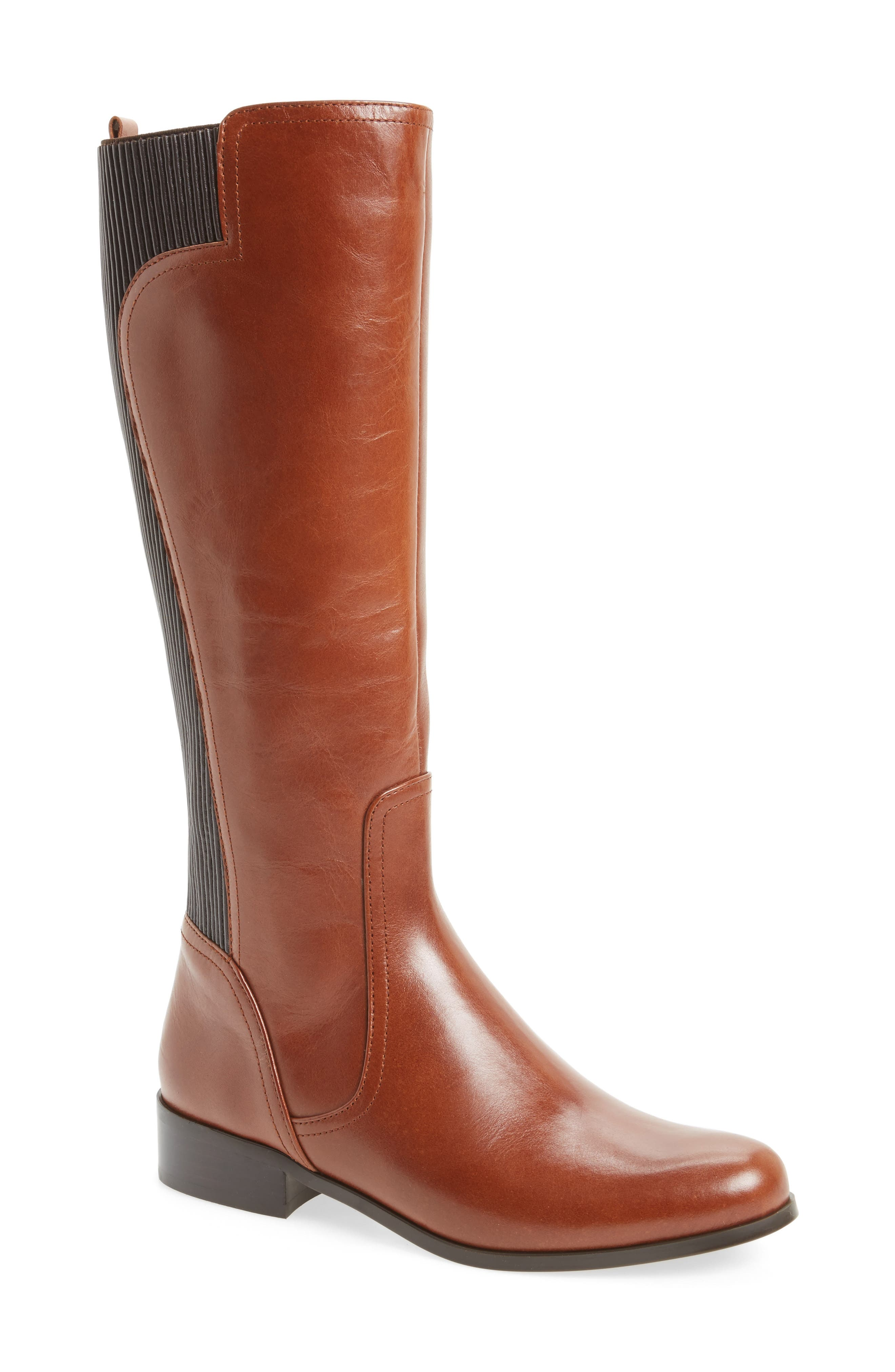 Rebel Tall Boot,                         Main,                         color, Tan Leather