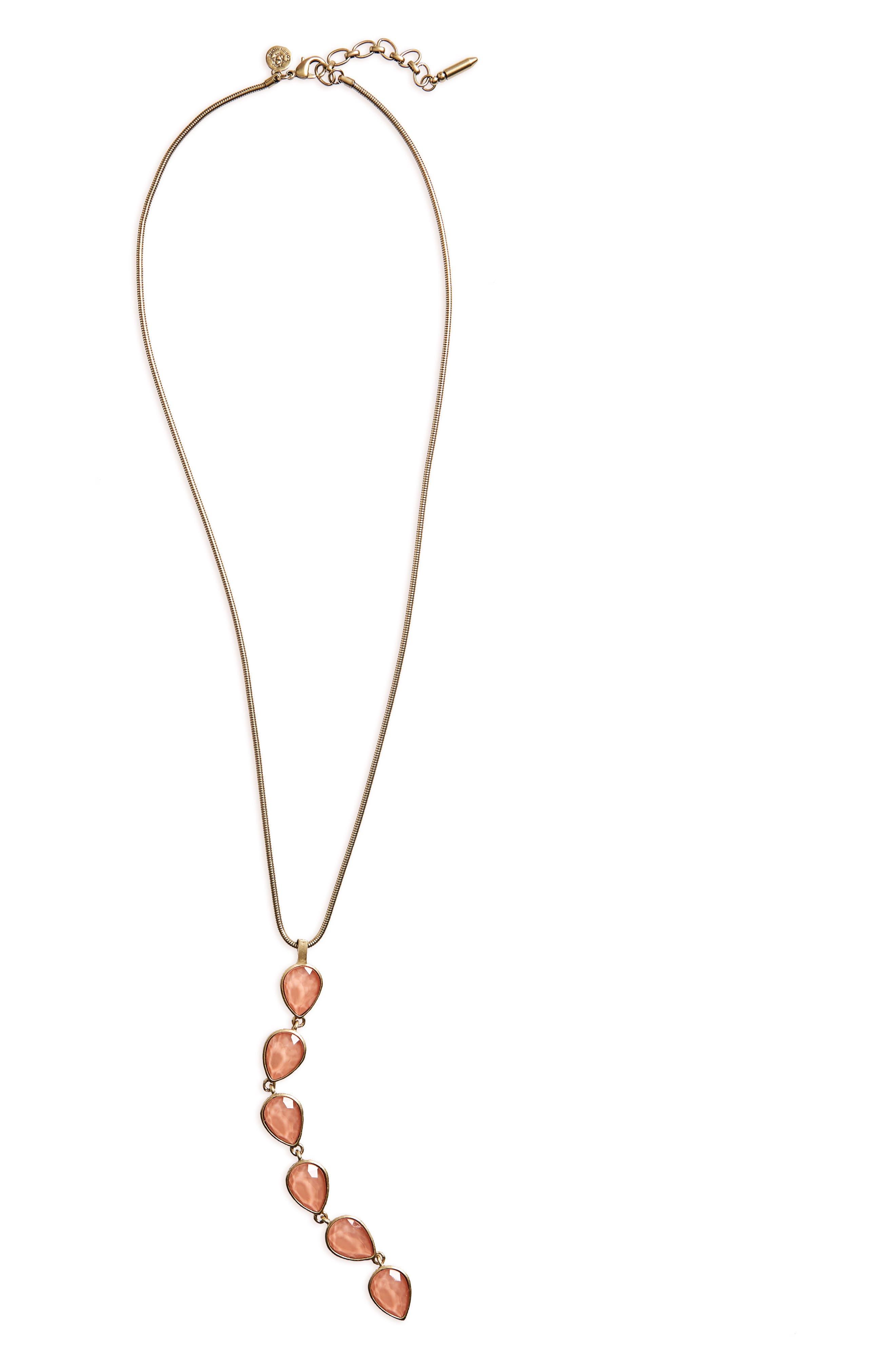 Sydney Pendant Necklace,                             Alternate thumbnail 2, color,                             Apricot