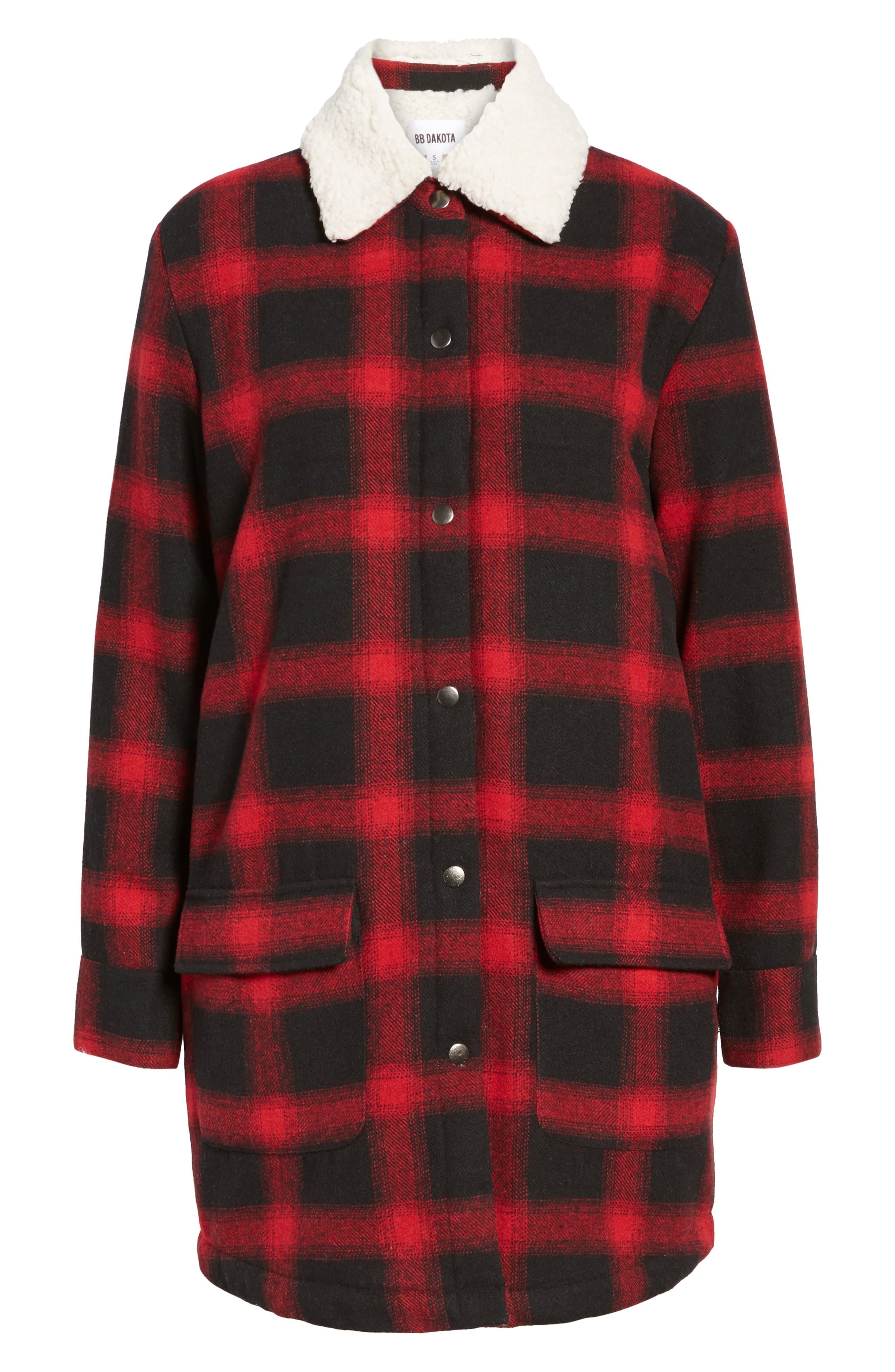 Alternate Image 5  - BB Dakota Bradley Fleece Lined Plaid Coat