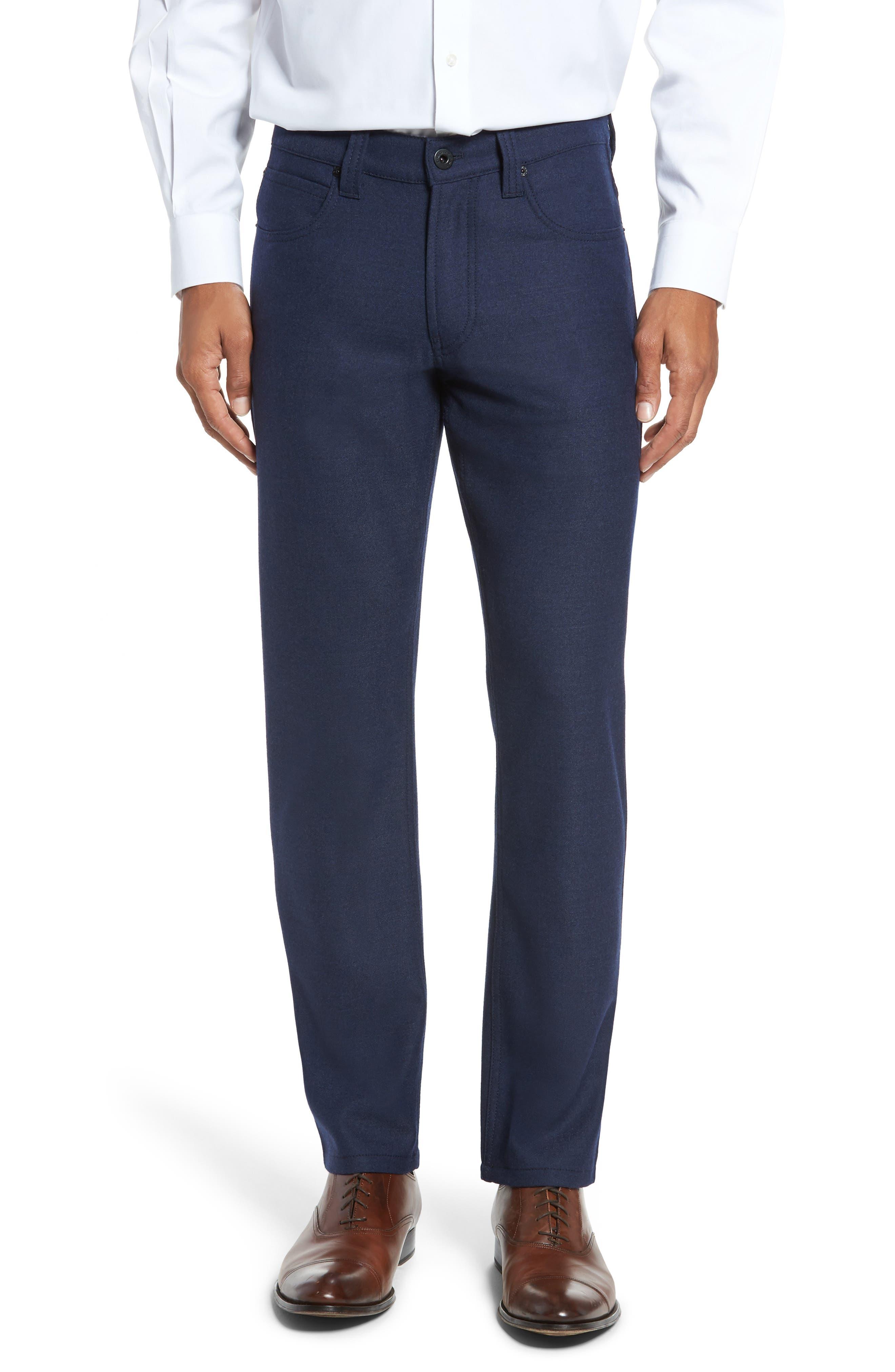 Wool Blend Pants,                             Main thumbnail 1, color,                             Navy
