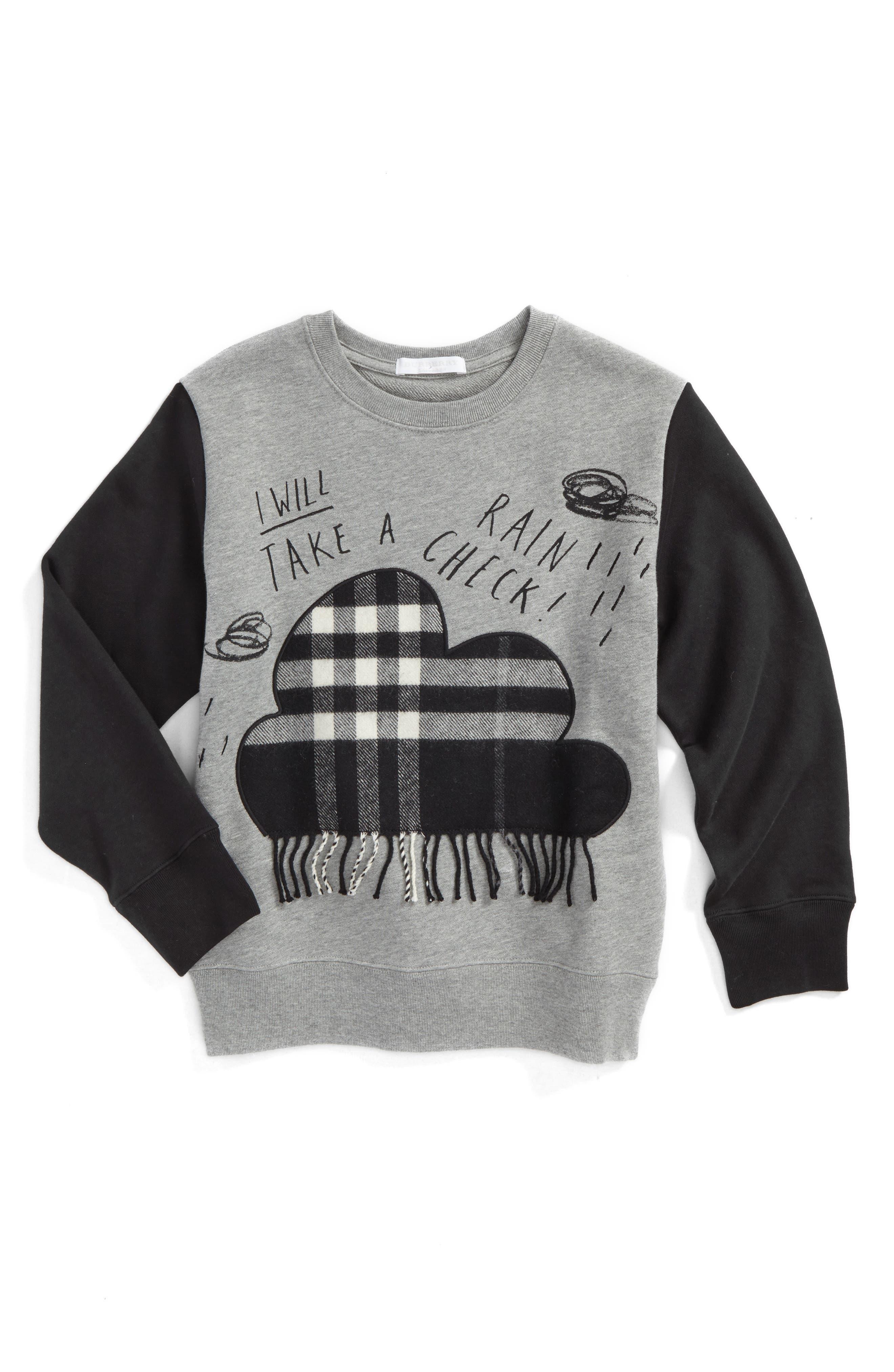 Alternate Image 1 Selected - Burberry Rain Check Sweatshirt (Little Boys, Big Boys)