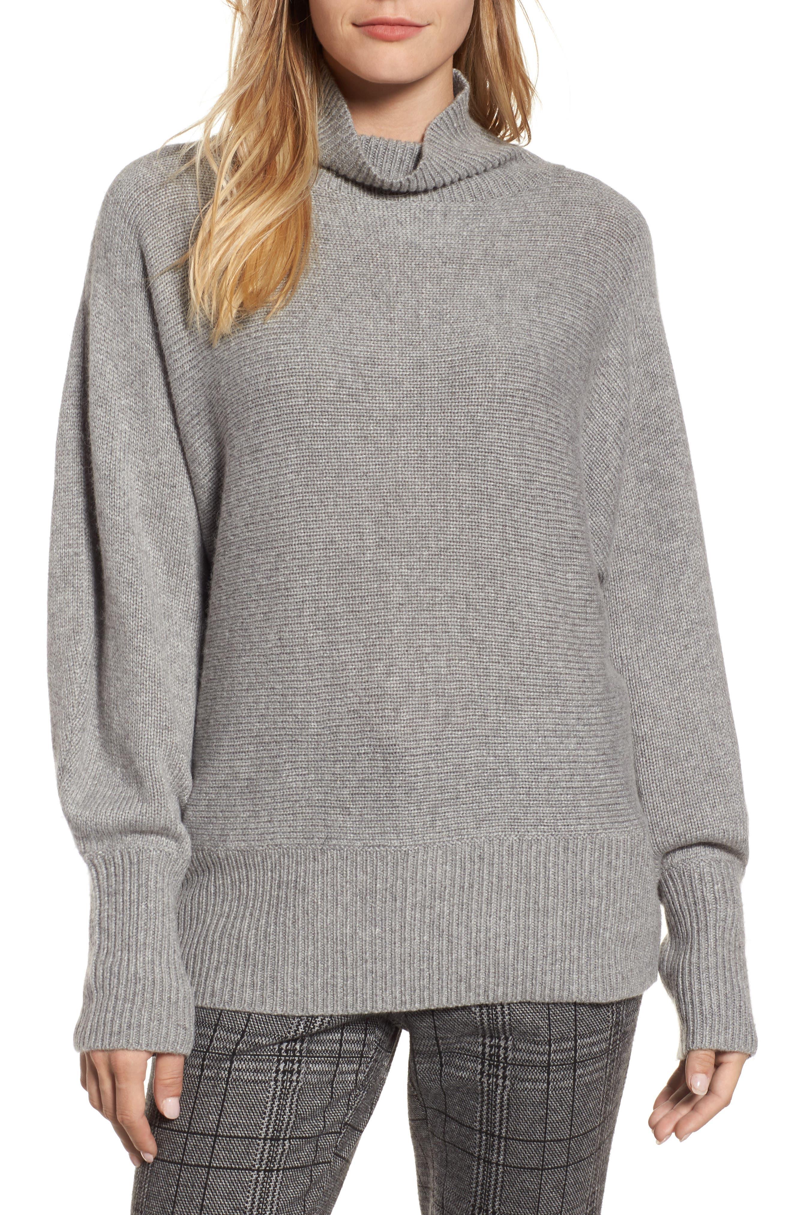 Alternate Image 1 Selected - Halogen® Blouson Sleeve Sweater (Regular & Petite)