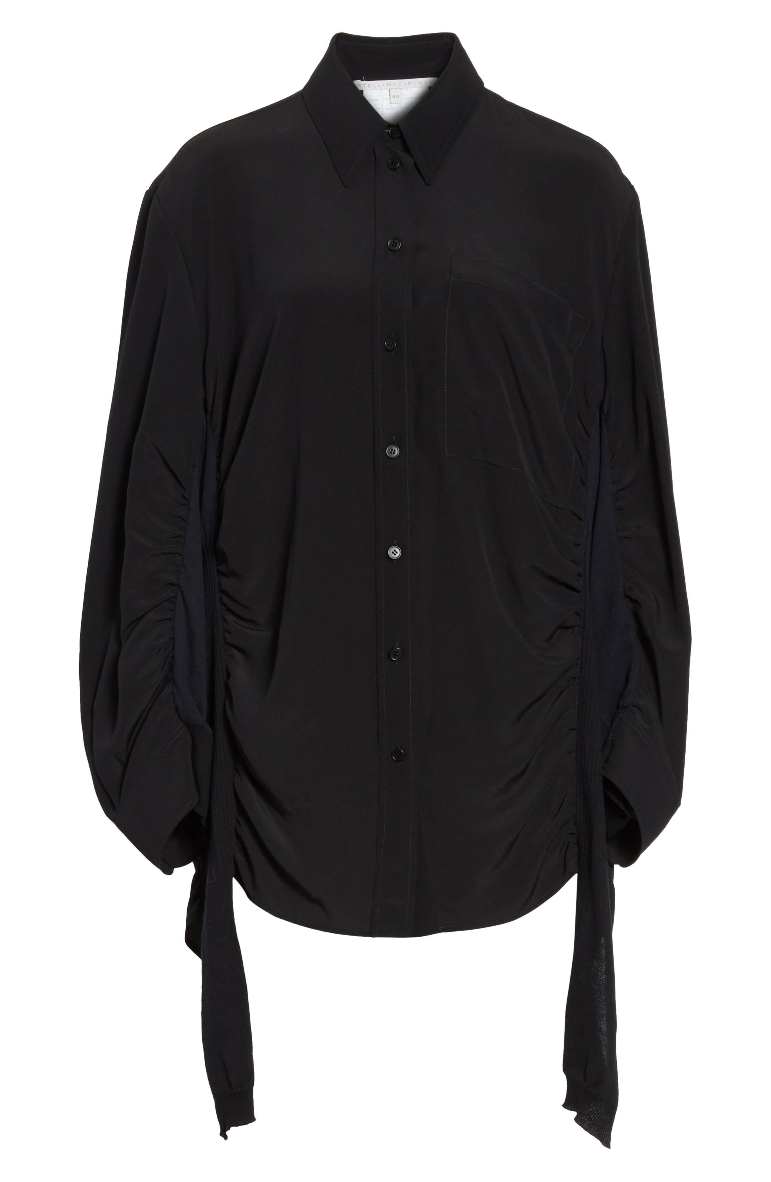 Alternate Image 6  - Stella McCartney Cutaway Silk Blouse
