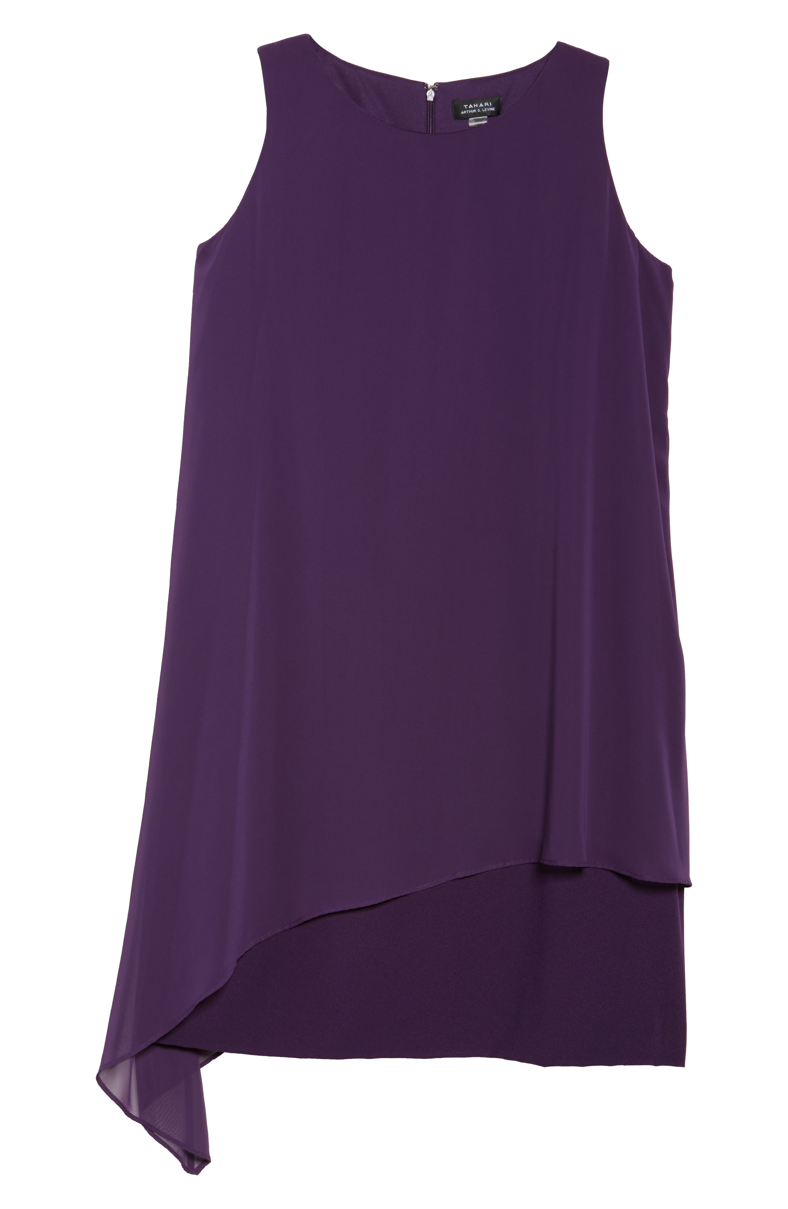 Alternate Image 6  - Tahari Chiffon Overlay Shift Dress (Plus Size)