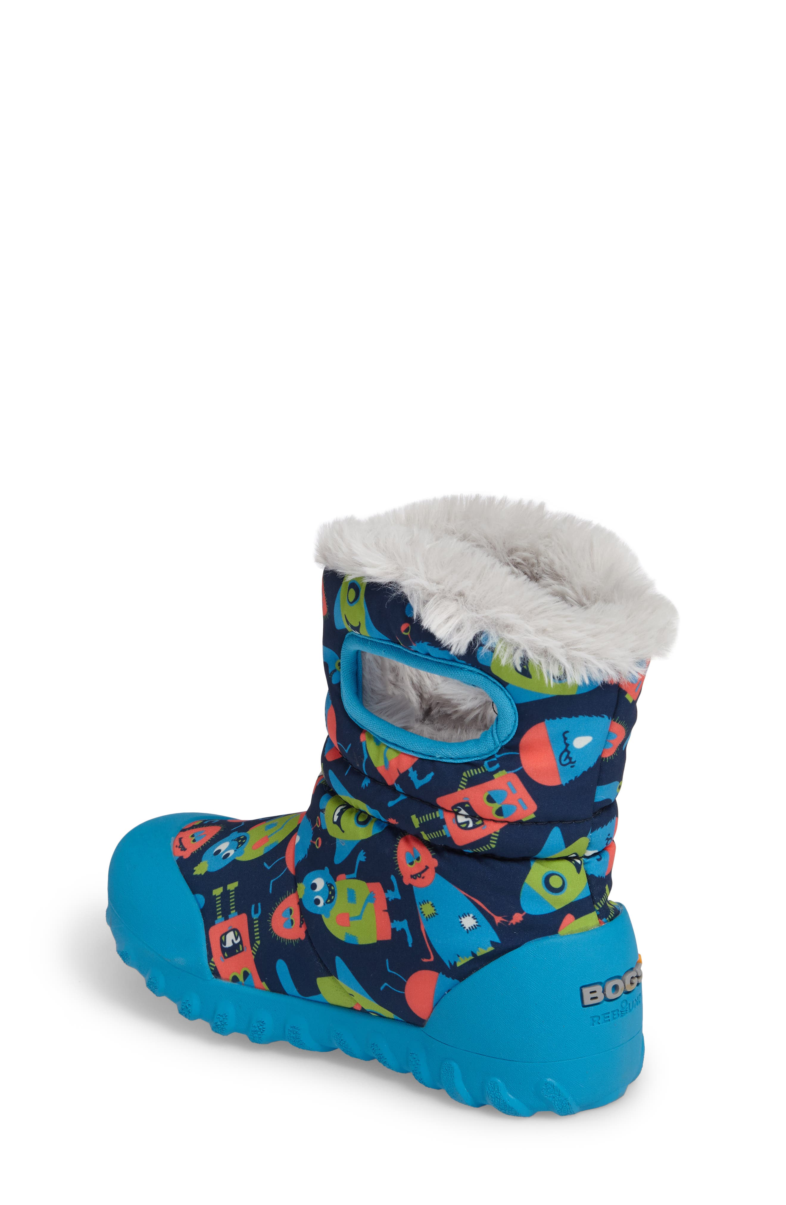 Alternate Image 2  - Bogs B-MOC Monsters Waterproof Insulated Faux Fur Boot (Toddler & Little Kid)