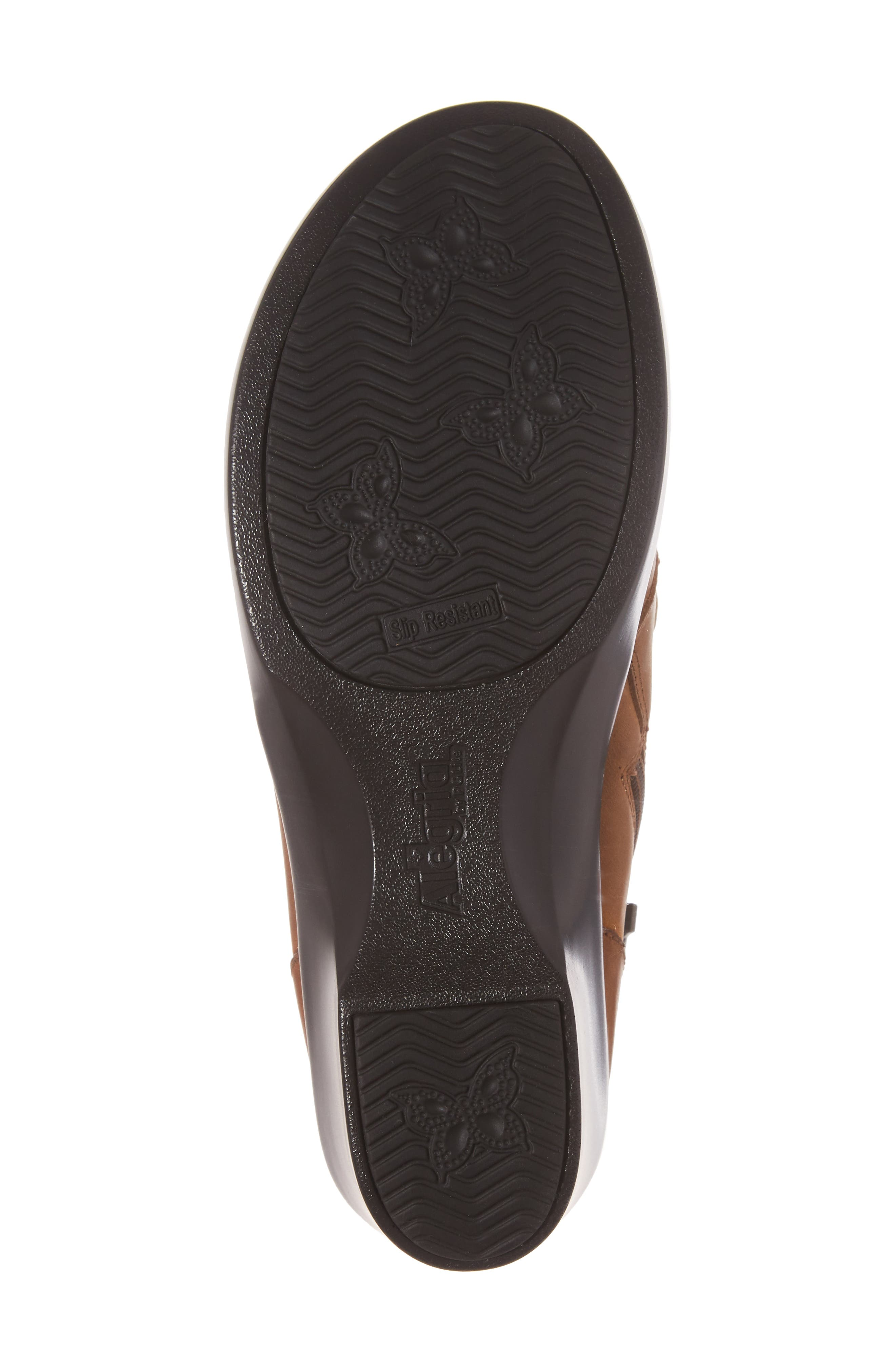Indi Demi Wedge Bootie,                             Alternate thumbnail 6, color,                             Walnut Leather