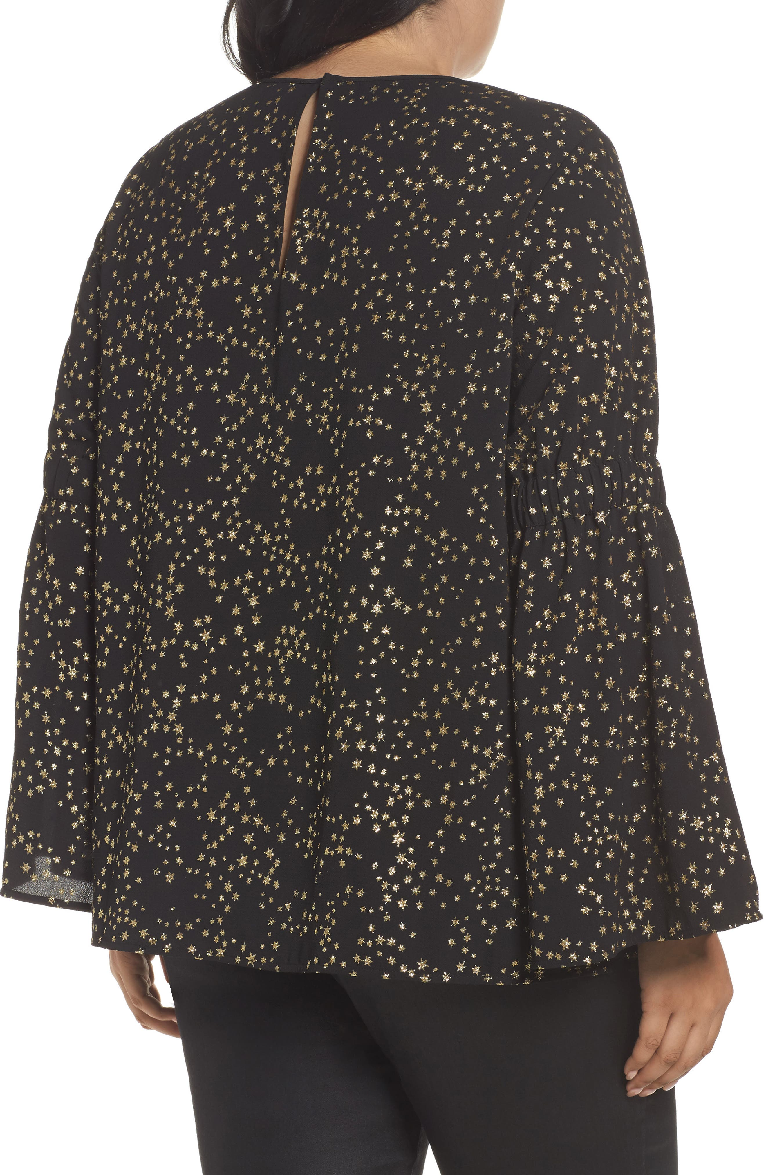 Alternate Image 2  - MICHAEL Michael Kors Shooting Star Bell Sleeve Top (Plus Size)