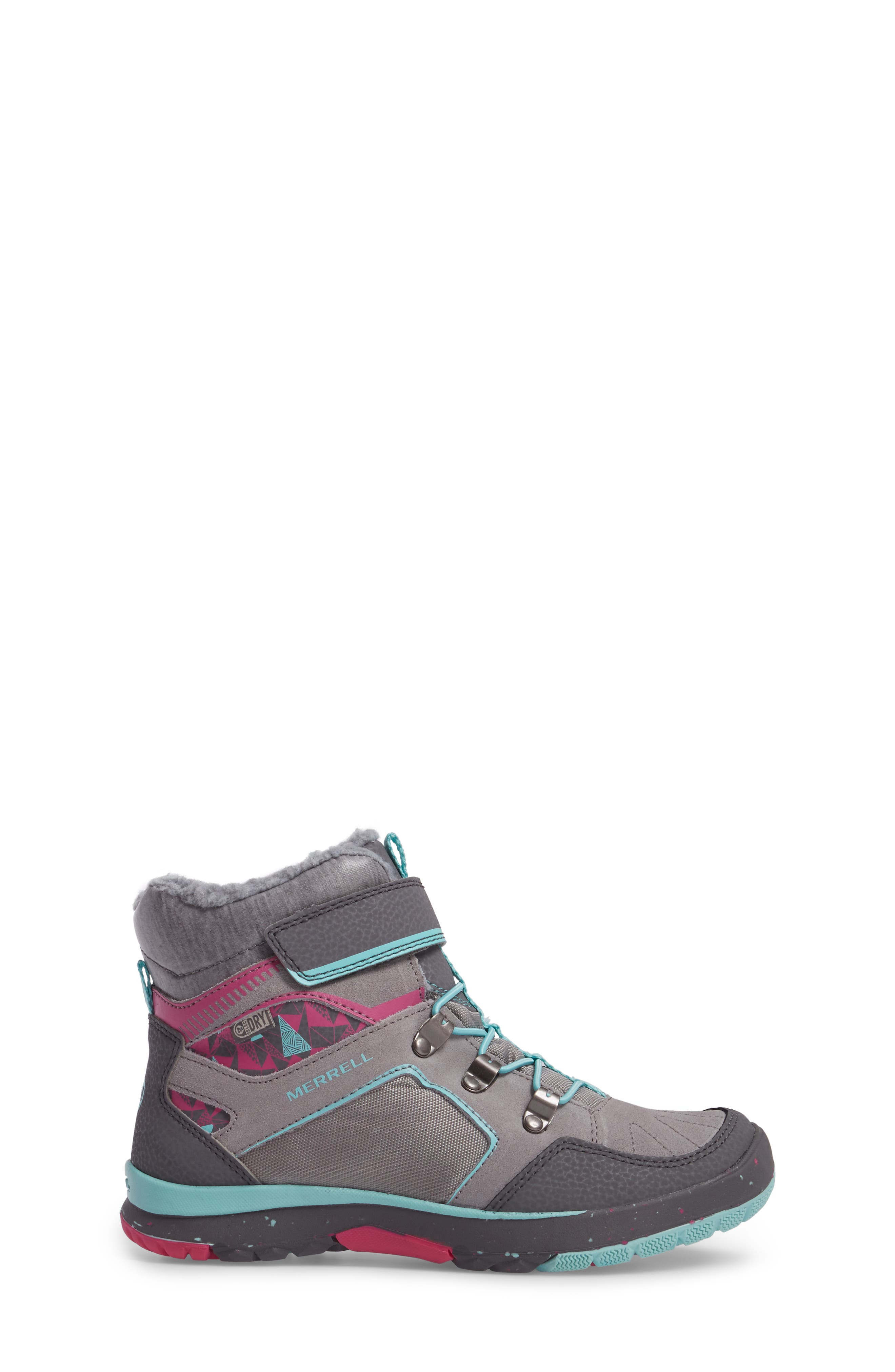 Moab FST Polar Mid Waterproof Insulated Sneaker Boot,                             Alternate thumbnail 3, color,                             Grey/ Multi
