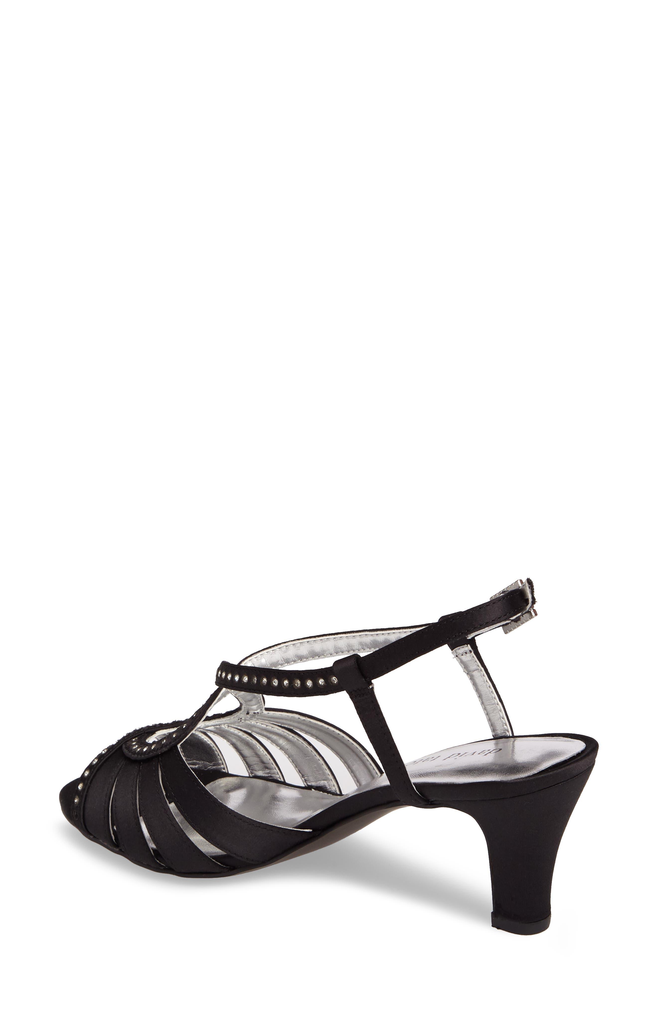 Whisper Slingback Sandal,                             Alternate thumbnail 2, color,                             Black Satin