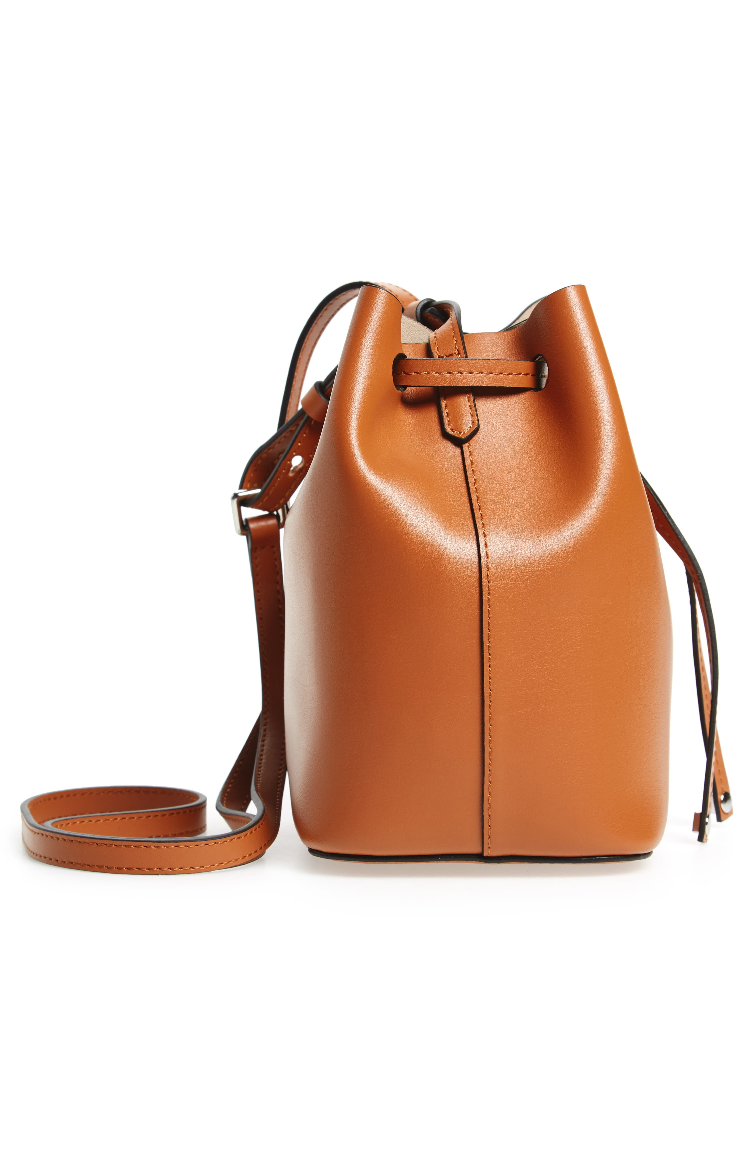 Alternate Image 5  - Lodis Small Silicon Valley Blake RFID Leather Bucket Bag