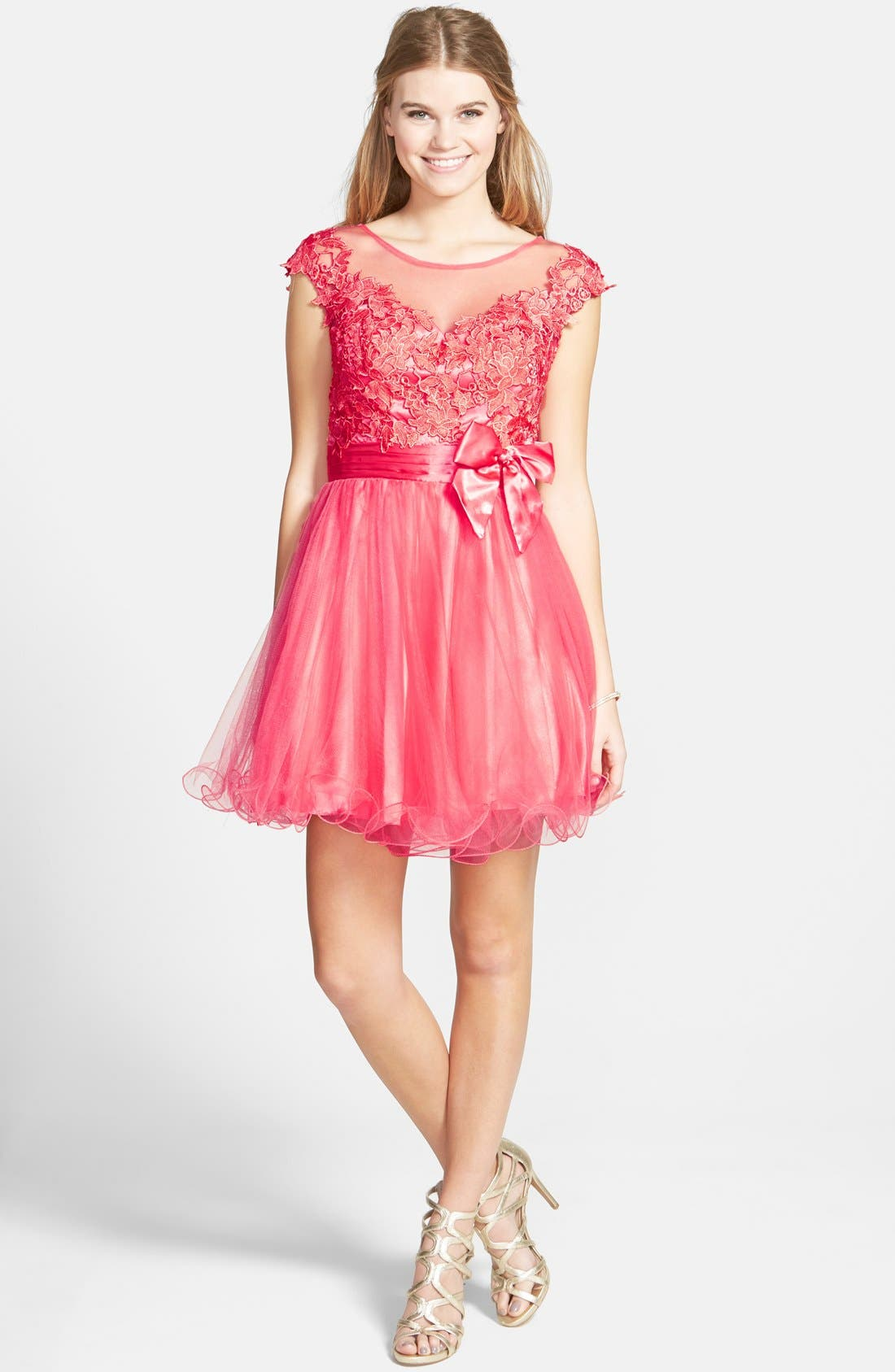 Main Image - Sean Collection Lace Bodice Fit & Flare Dress