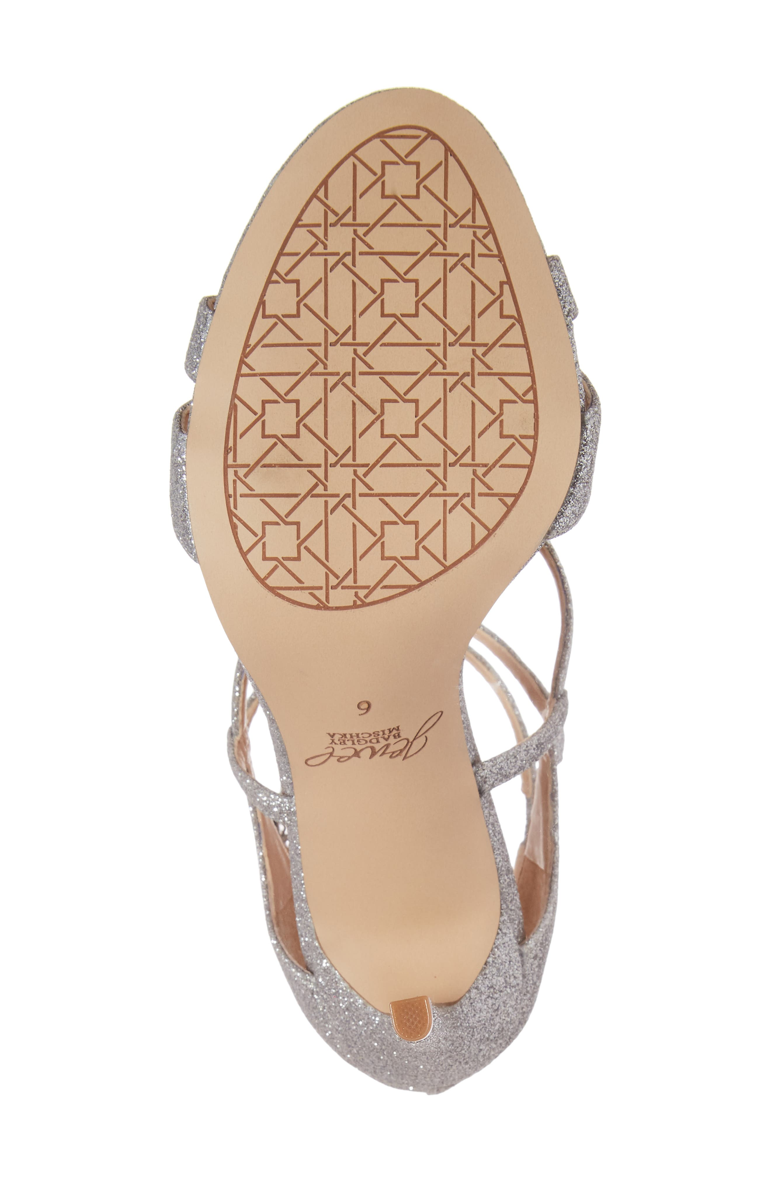 Alternate Image 6  - Jewel Badgley Mischka Aliza Strappy Glitter Sandal (Women)