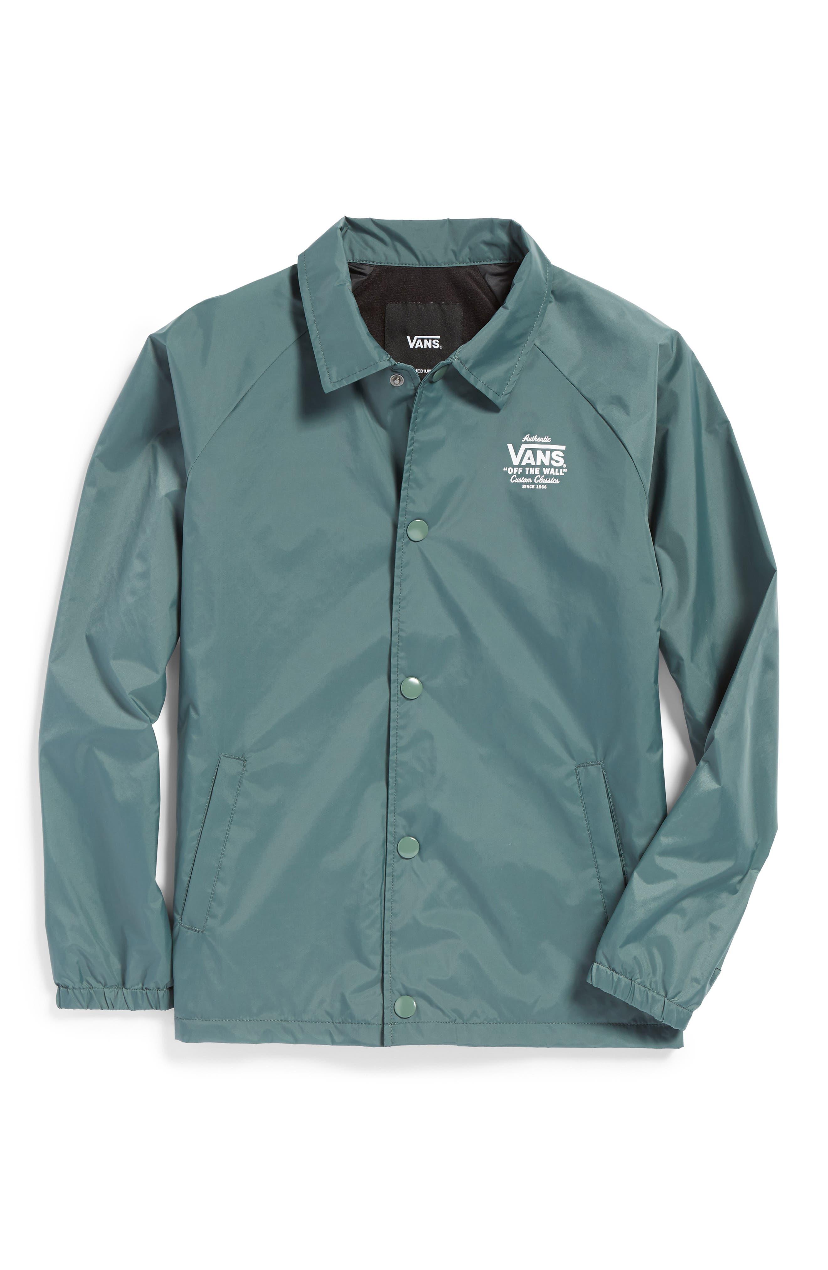 Torrey Water Resistant Windbreaker Jacket,                         Main,                         color, Dark Forest